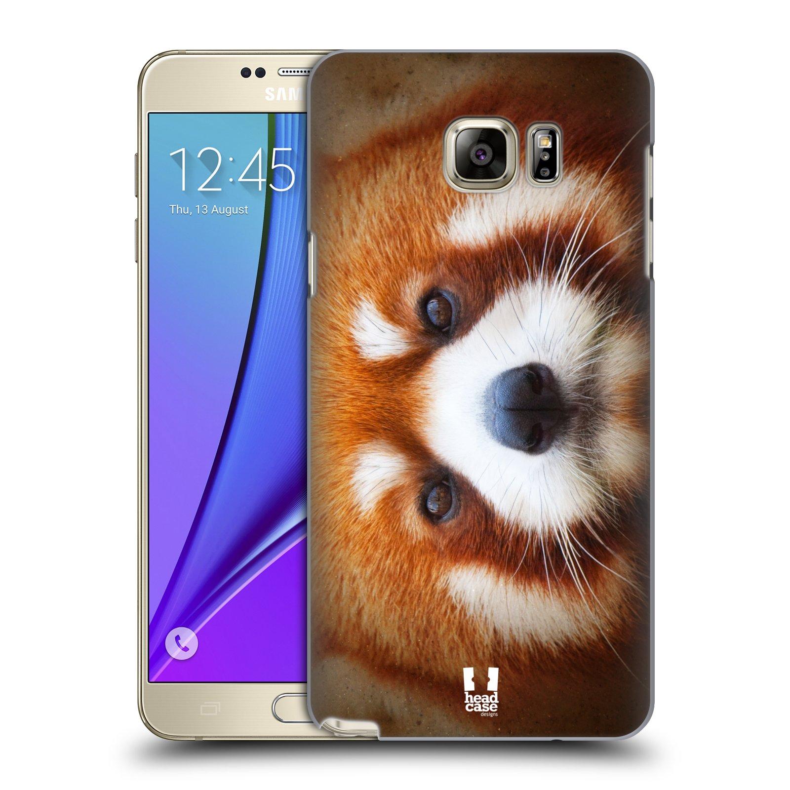 HEAD CASE plastový obal na mobil SAMSUNG Galaxy Note 5 (N920) vzor Zvířecí tváře 2 medvěd panda rudá