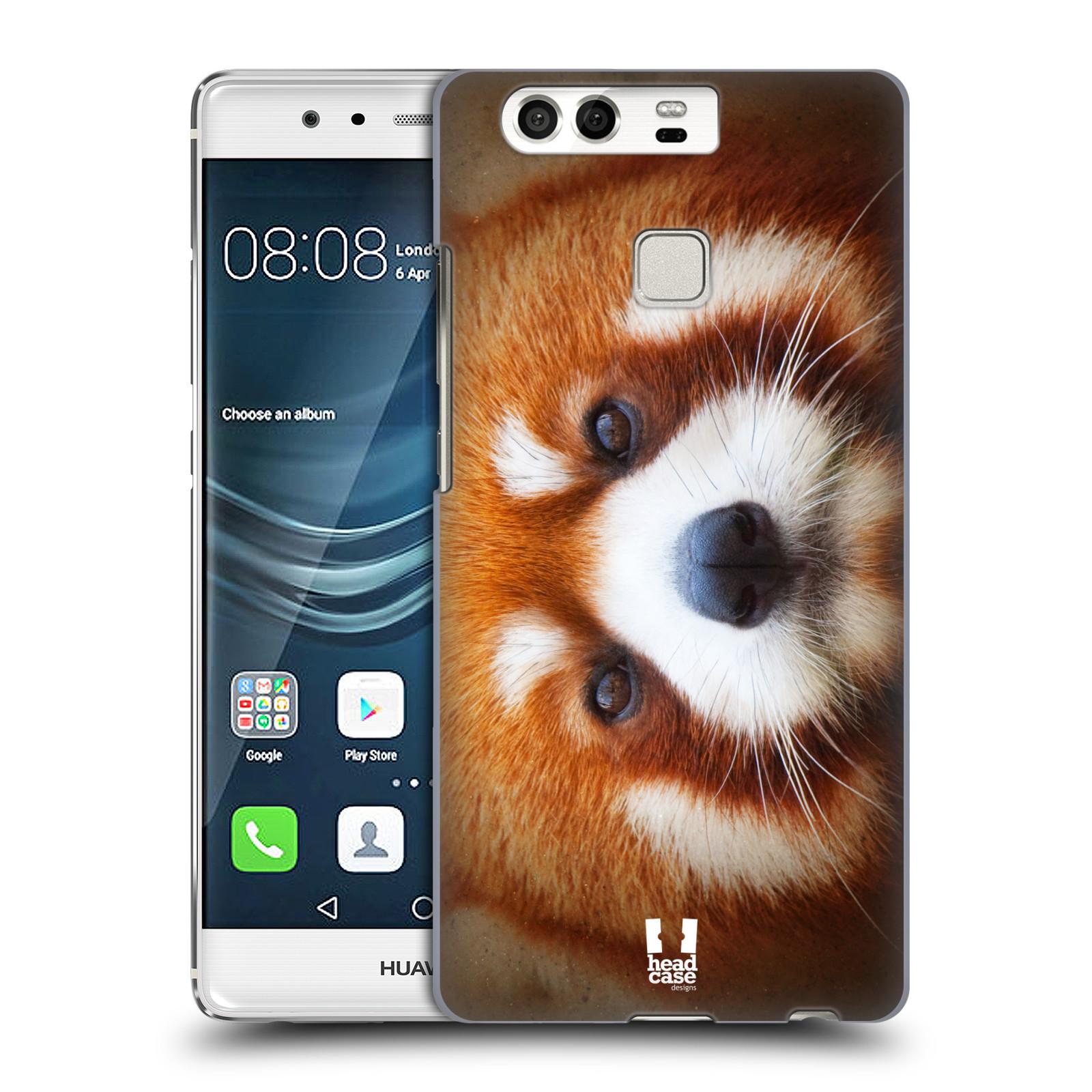 HEAD CASE plastový obal na mobil Huawei P9 / P9 DUAL SIM vzor Zvířecí tváře 2 medvěd panda rudá