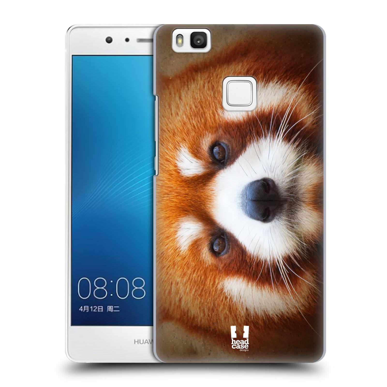 HEAD CASE plastový obal na mobil Huawei P9 LITE / P9 LITE DUAL SIM vzor Zvířecí tváře 2 medvěd panda rudá