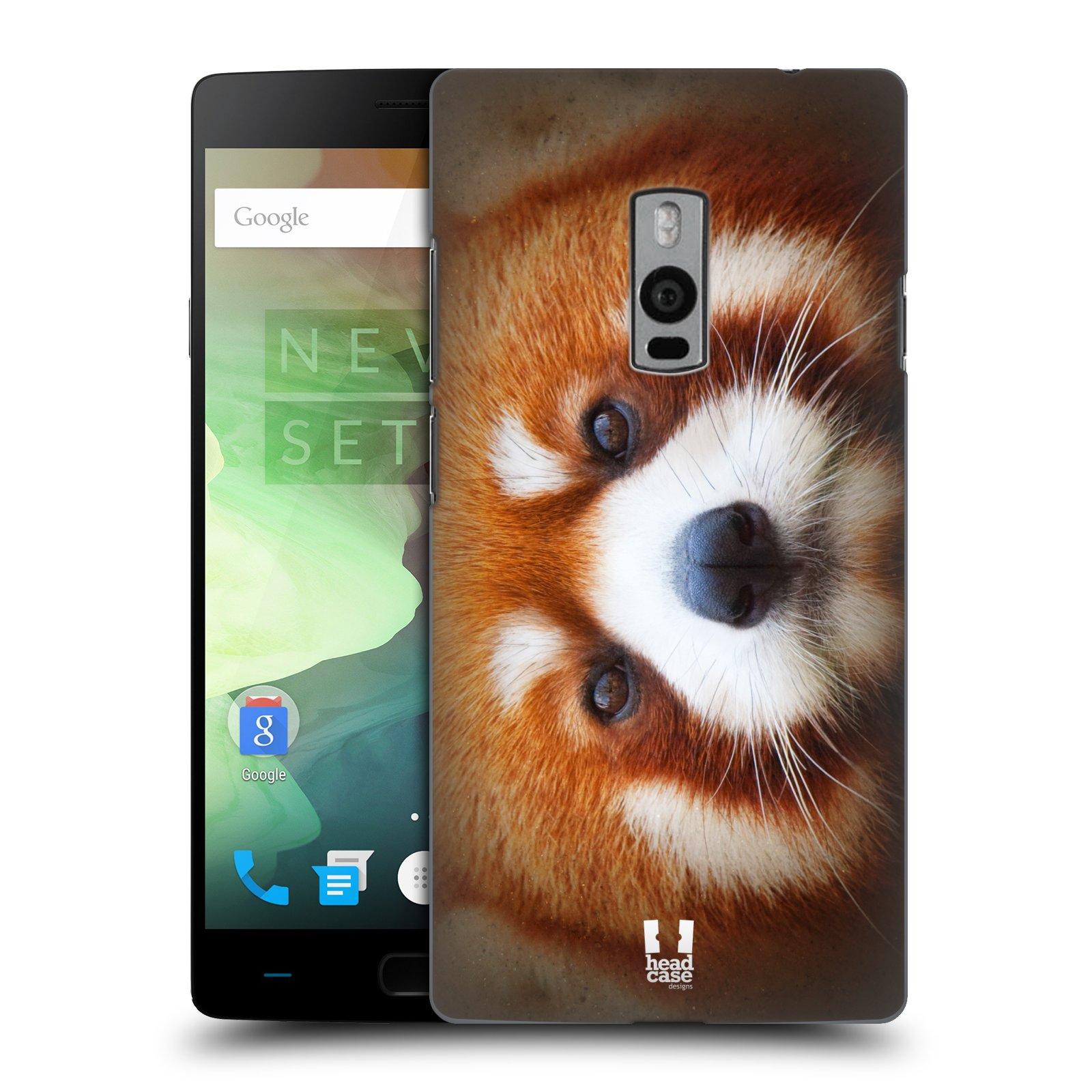 HEAD CASE pevný plastový obal na mobil OnePlus 2  ( TWO ) vzor Zvířecí tváře 2 medvěd panda rudá