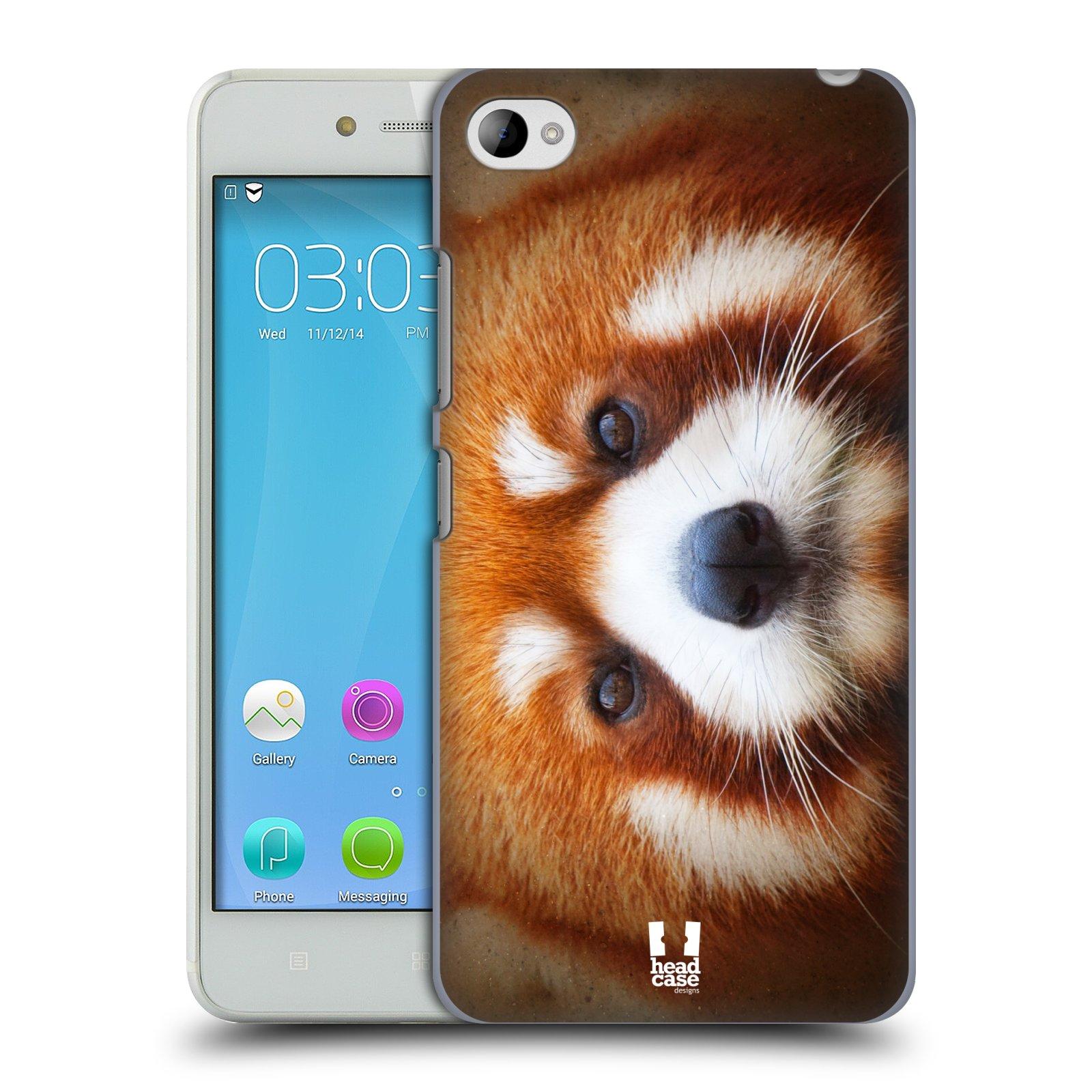 HEAD CASE pevný plastový obal na mobil LENOVO S90 vzor Zvířecí tváře 2 medvěd panda rudá