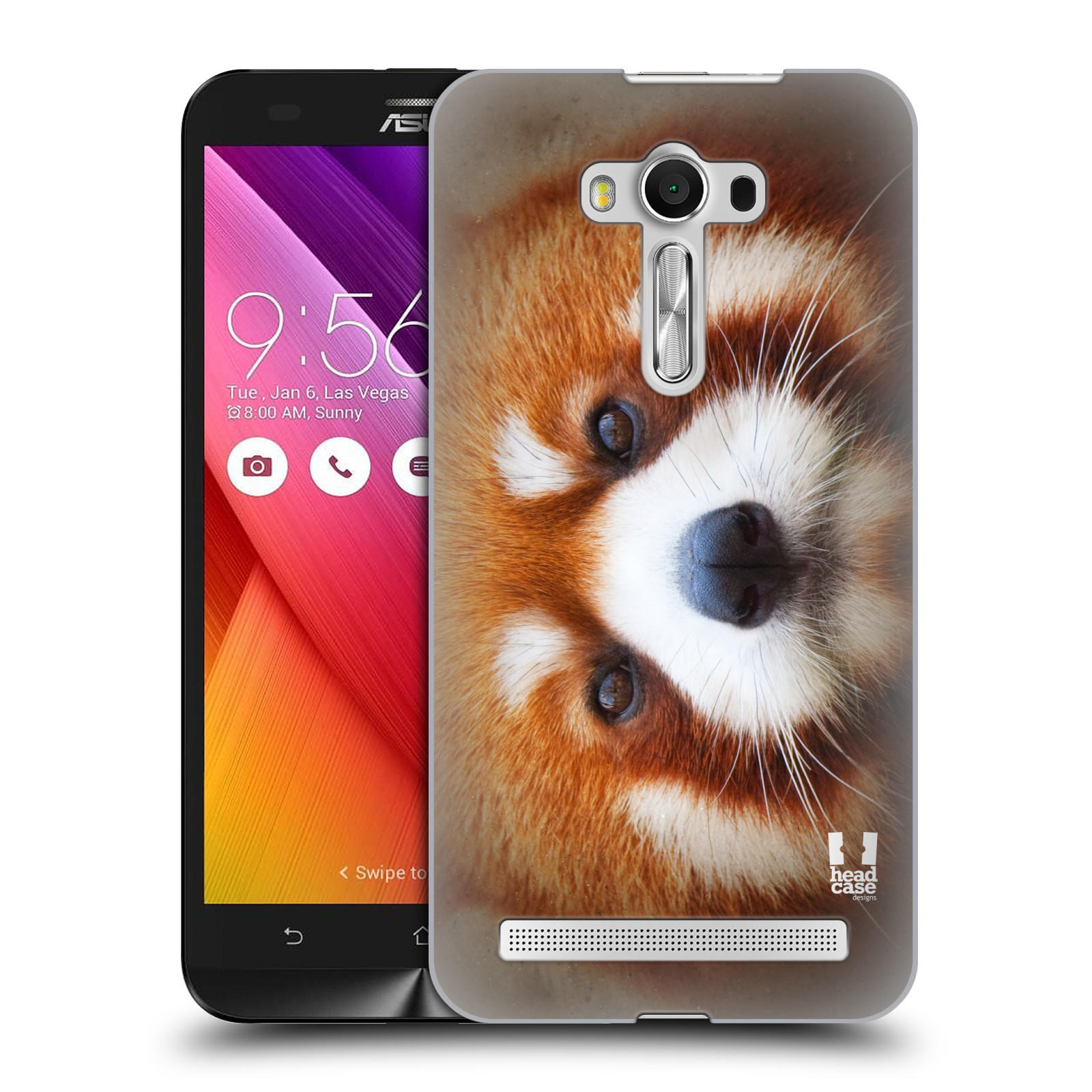 HEAD CASE plastový obal na mobil Asus Zenfone 2 LASER (5,5 displej ZE550KL) vzor Zvířecí tváře 2 medvěd panda rudá