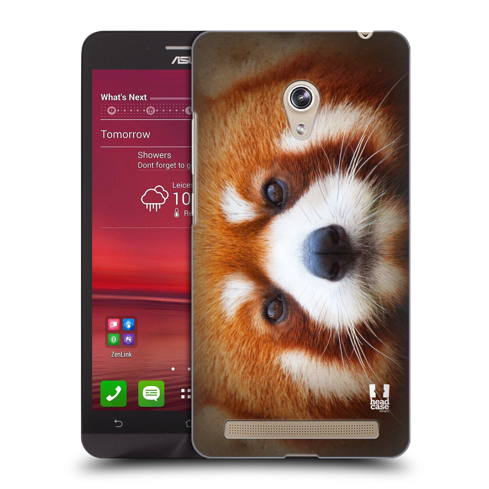 HEAD CASE plastový obal na mobil Asus Zenfone 6 vzor Zvířecí tváře 2 medvěd panda rudá