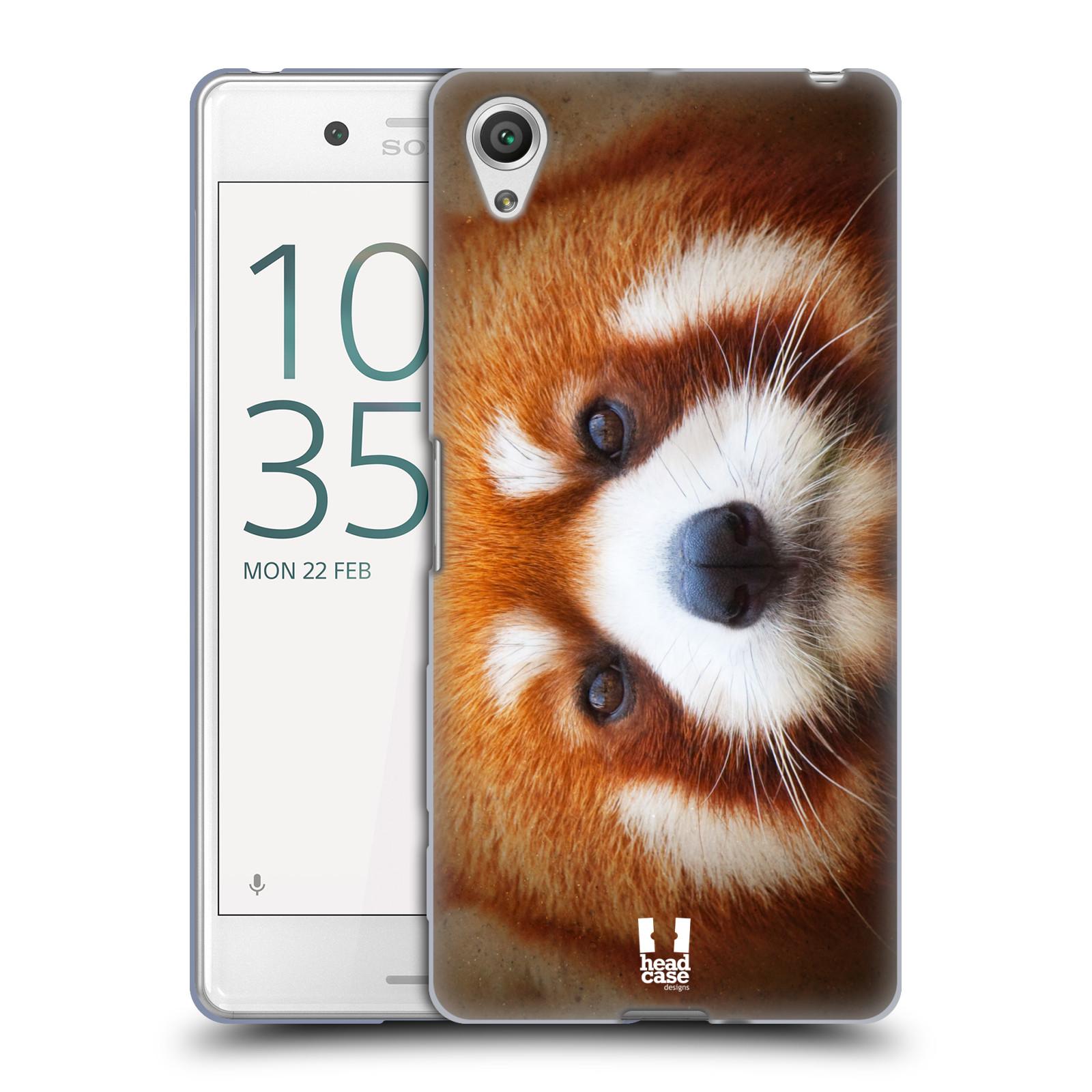 HEAD CASE silikonový obal na mobil Sony Xperia X PERFORMANCE (F8131, F8132) vzor Zvířecí tváře 2 medvěd panda rudá