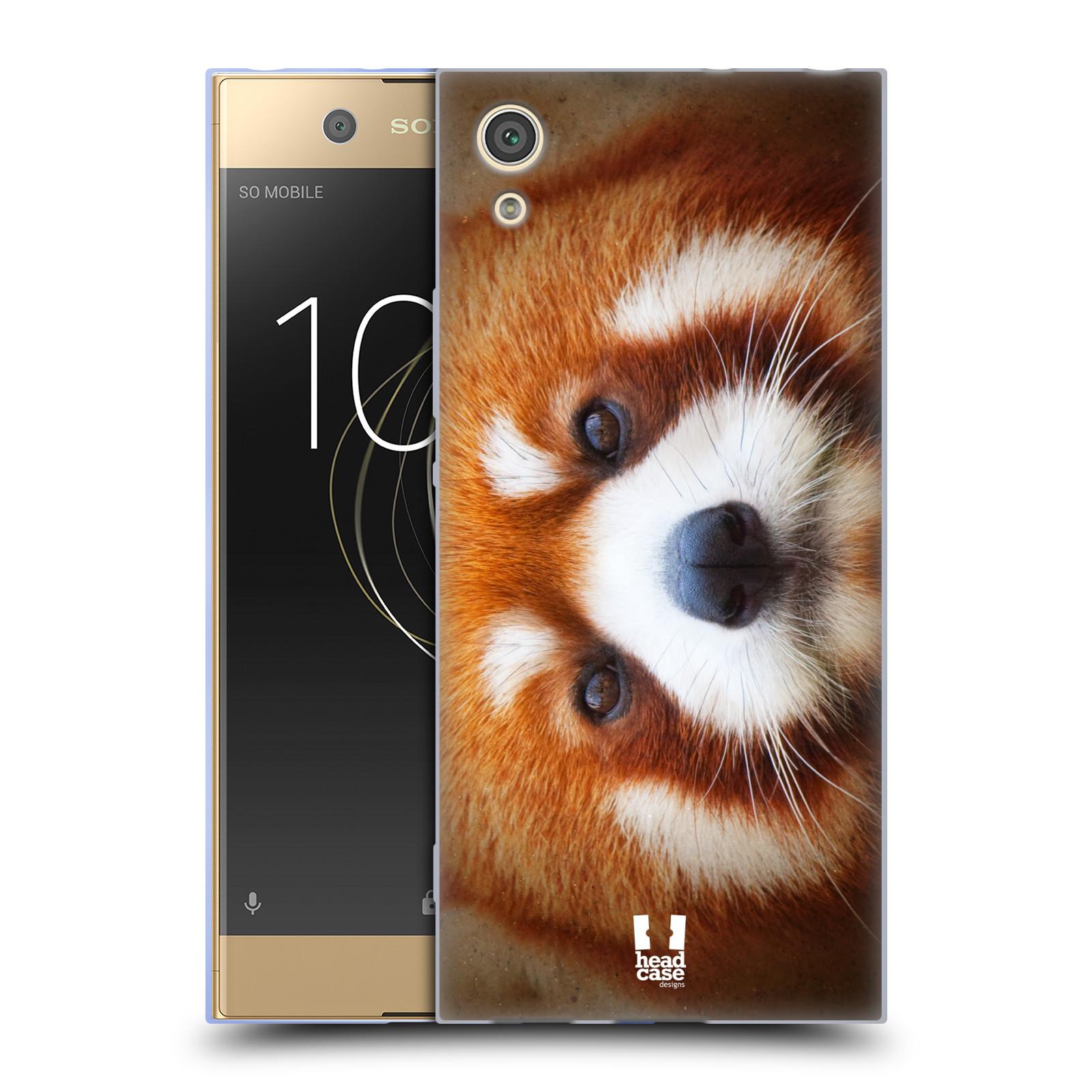 HEAD CASE silikonový obal na mobil Sony Xperia XA1 / XA1 DUAL SIM vzor Zvířecí tváře 2 medvěd panda rudá