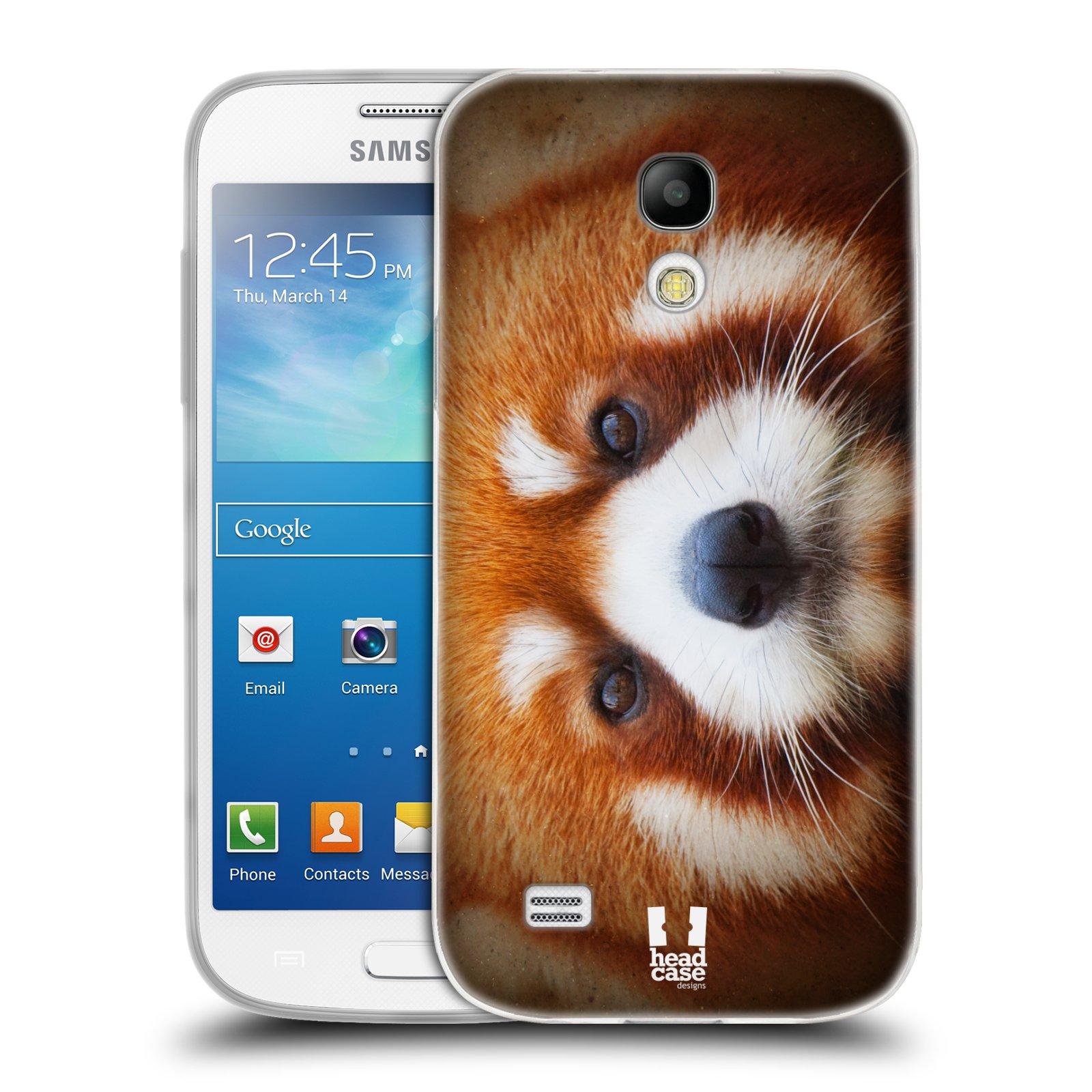 HEAD CASE silikonový obal na mobil Samsung Galaxy S4 MINI vzor Zvířecí tváře 2 medvěd panda rudá