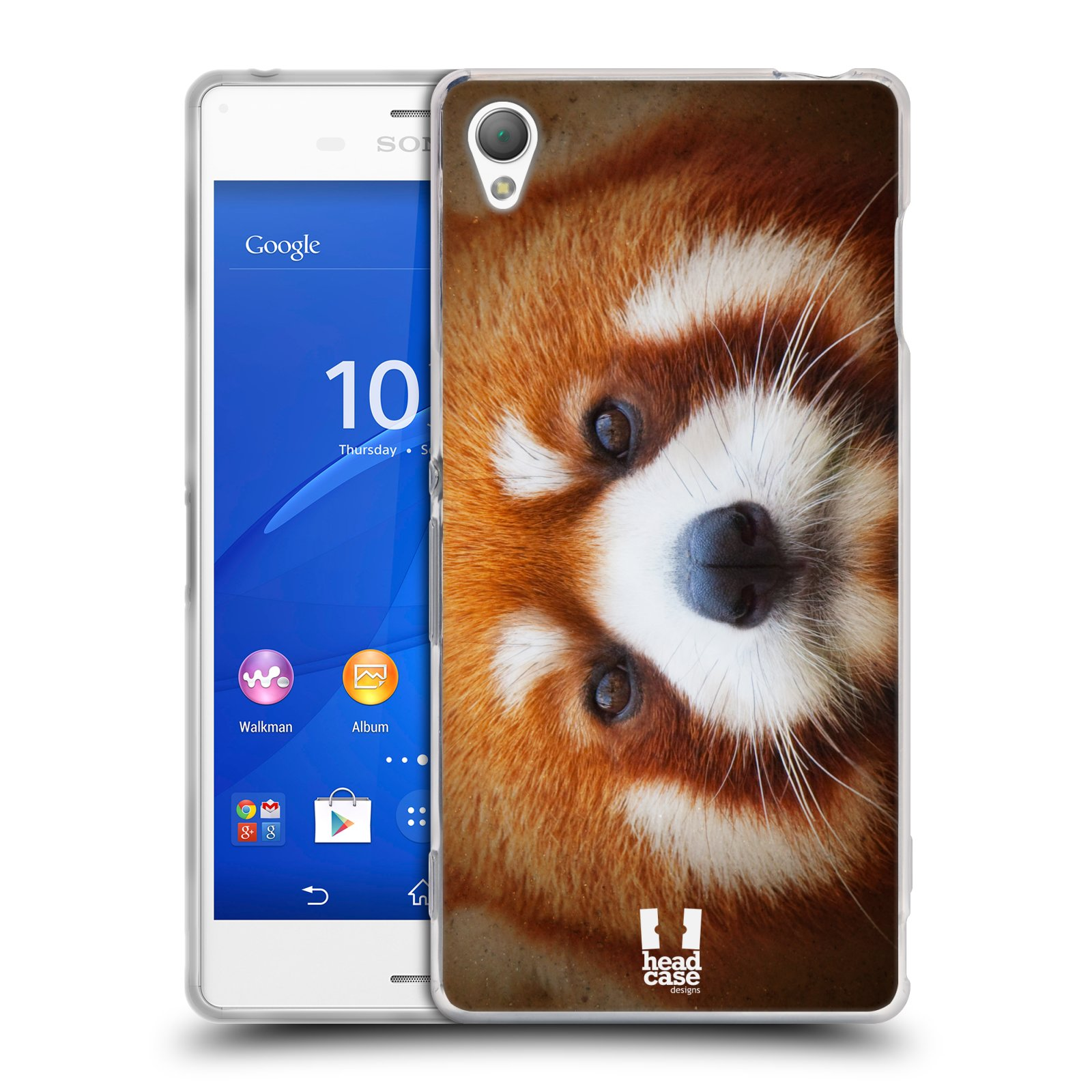 HEAD CASE silikonový obal na mobil Sony Xperia Z3 vzor Zvířecí tváře 2 medvěd panda rudá