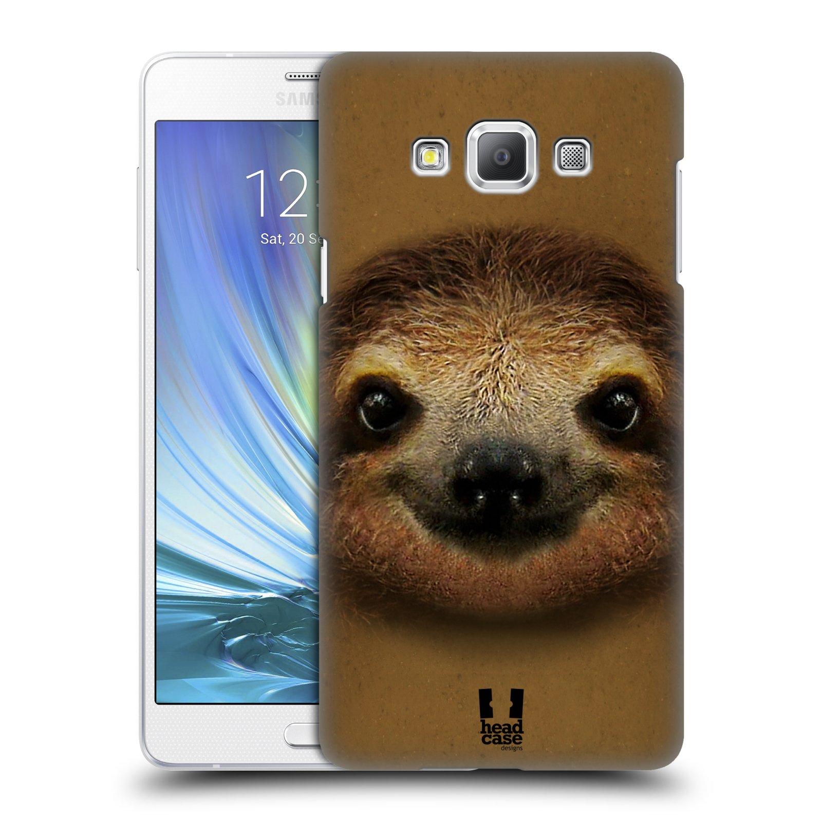 HEAD CASE plastový obal na mobil SAMSUNG GALAXY A7 vzor Zvířecí tváře 2 lenochod