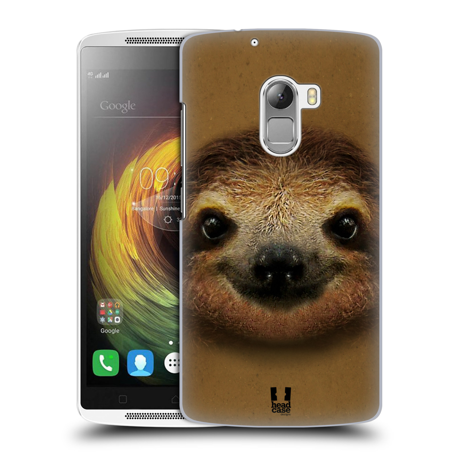 HEAD CASE pevný plastový obal na mobil LENOVO A7010 / A7010 DUAL / K4 Note / Vibe X3 lite vzor Zvířecí tváře 2 lenochod