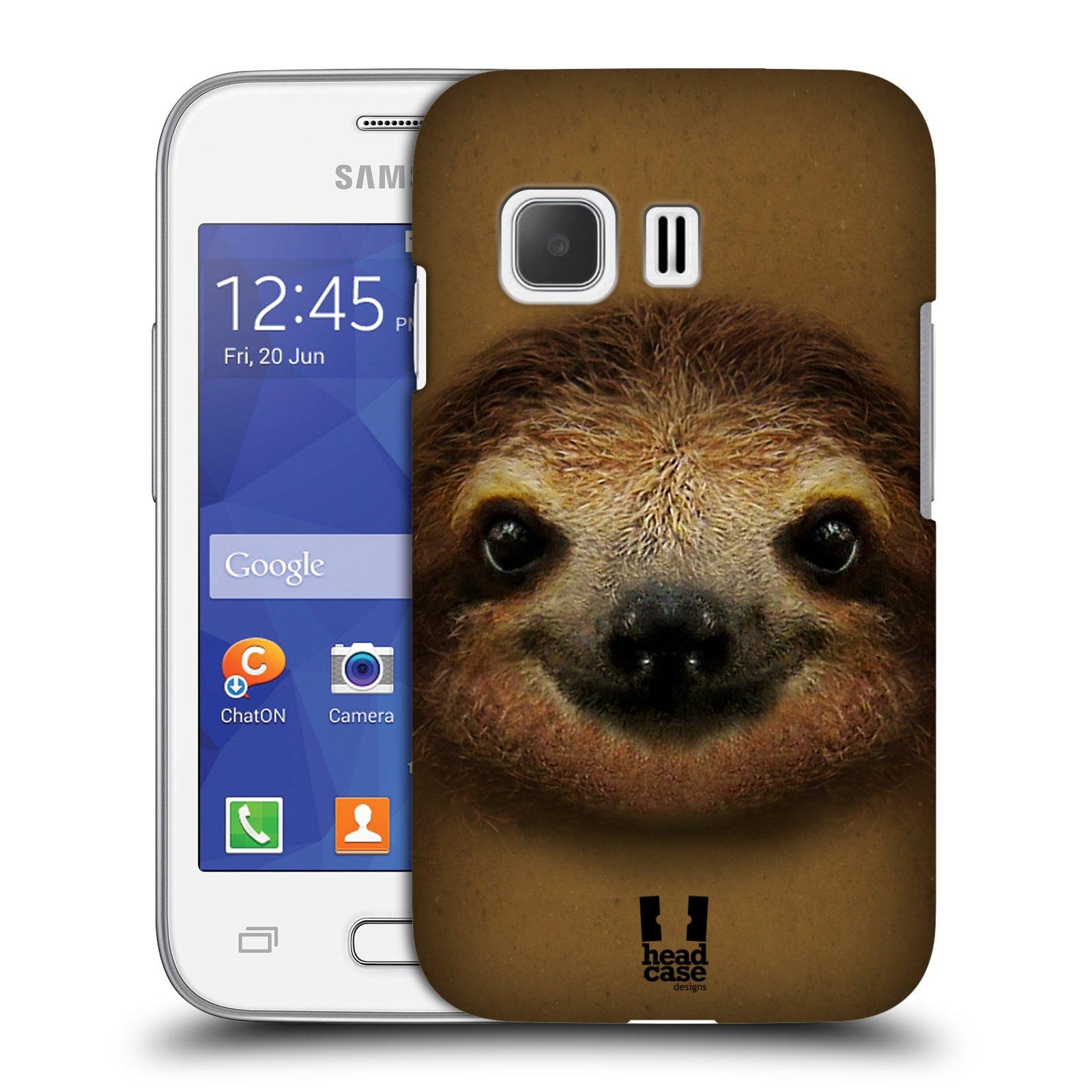 HEAD CASE plastový obal na mobil SAMSUNG Galaxy Young 2 (G130) vzor Zvířecí tváře 2 lenochod