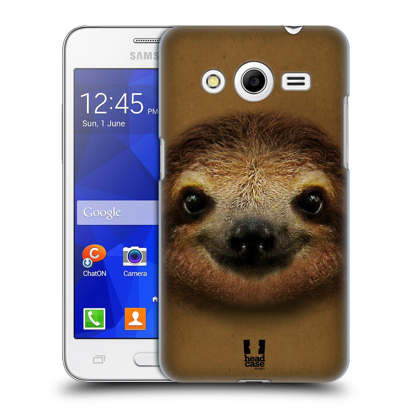 HEAD CASE plastový obal na mobil SAMSUNG GALAXY Core 2 (G355H) vzor Zvířecí tváře 2 lenochod