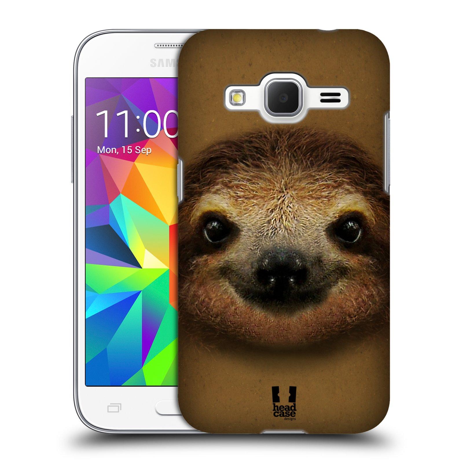 HEAD CASE plastový obal na mobil SAMSUNG GALAXY Core Prime (Core Prime VE) vzor Zvířecí tváře 2 lenochod