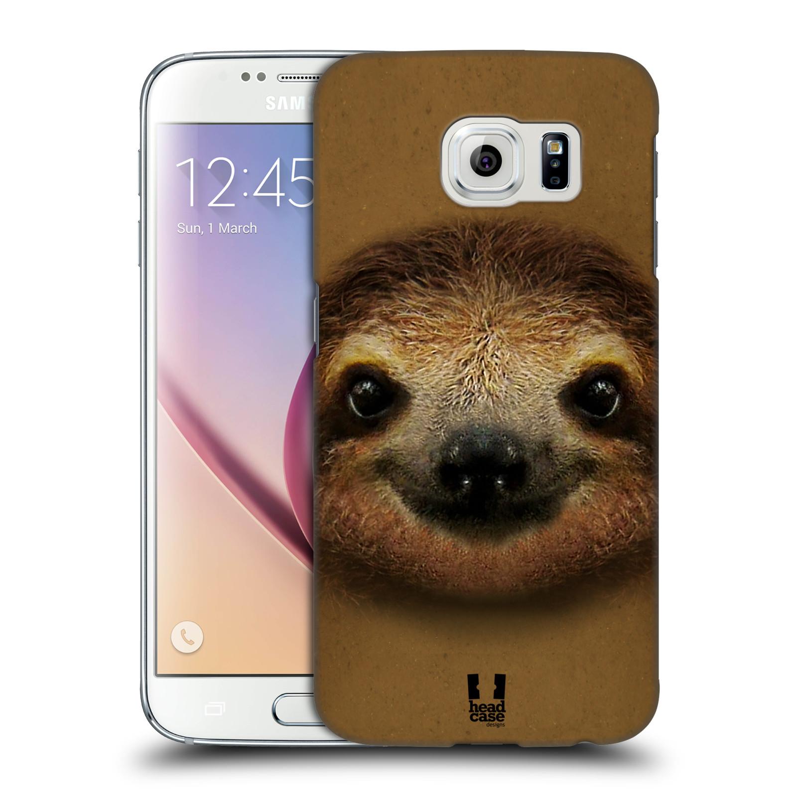 HEAD CASE plastový obal na mobil SAMSUNG Galaxy S6 (G9200, G920F) vzor Zvířecí tváře 2 lenochod