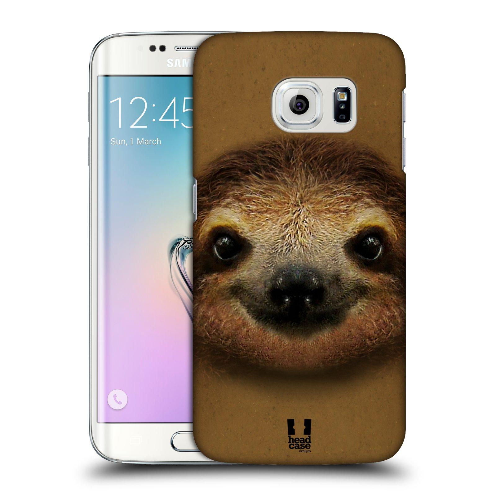 HEAD CASE plastový obal na mobil SAMSUNG Galaxy S6 EDGE (G9250, G925, G925F) vzor Zvířecí tváře 2 lenochod