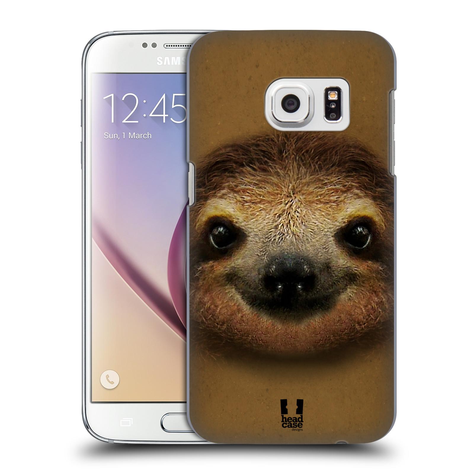 HEAD CASE plastový obal na mobil SAMSUNG GALAXY S7 vzor Zvířecí tváře 2 lenochod