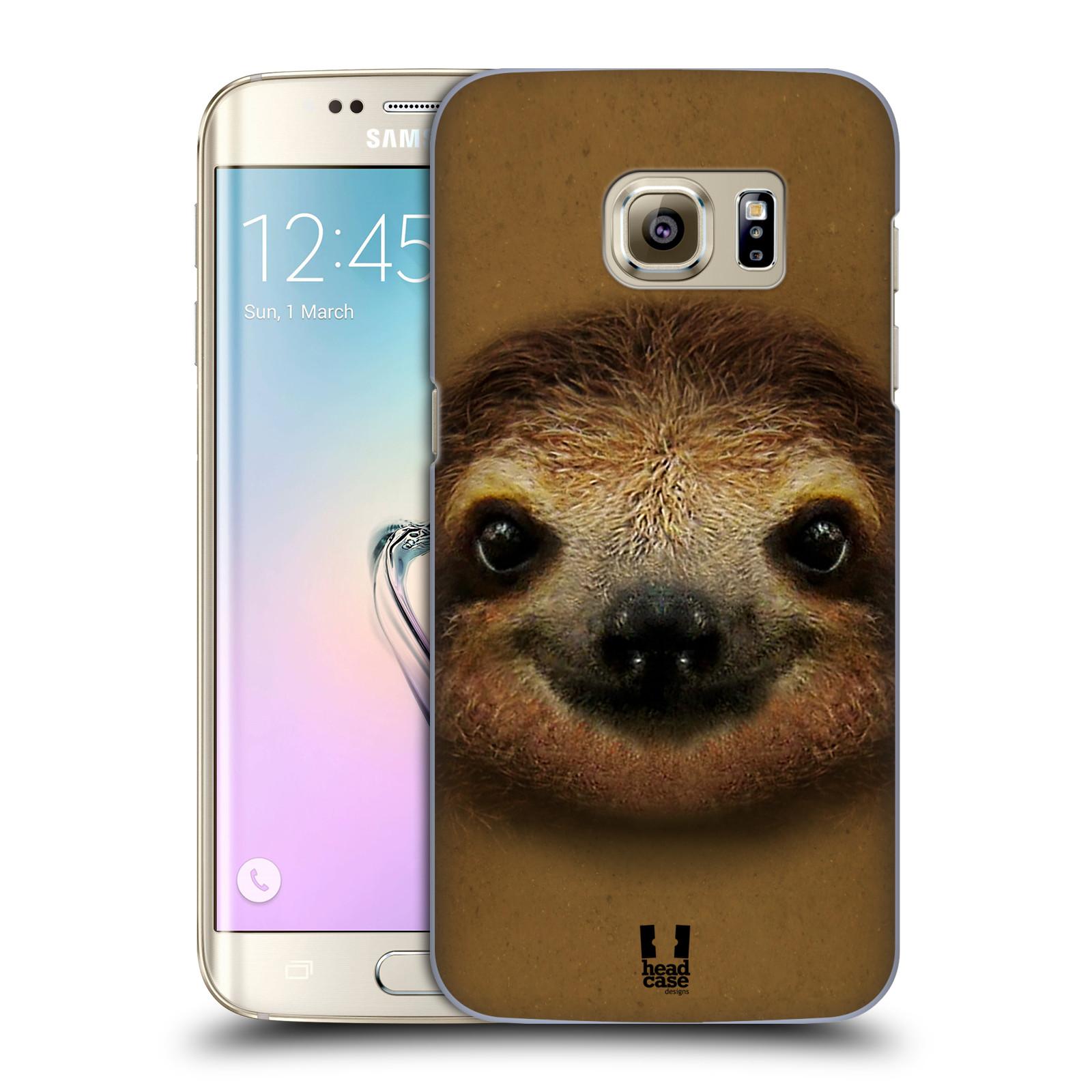 HEAD CASE plastový obal na mobil SAMSUNG GALAXY S7 EDGE vzor Zvířecí tváře 2 lenochod