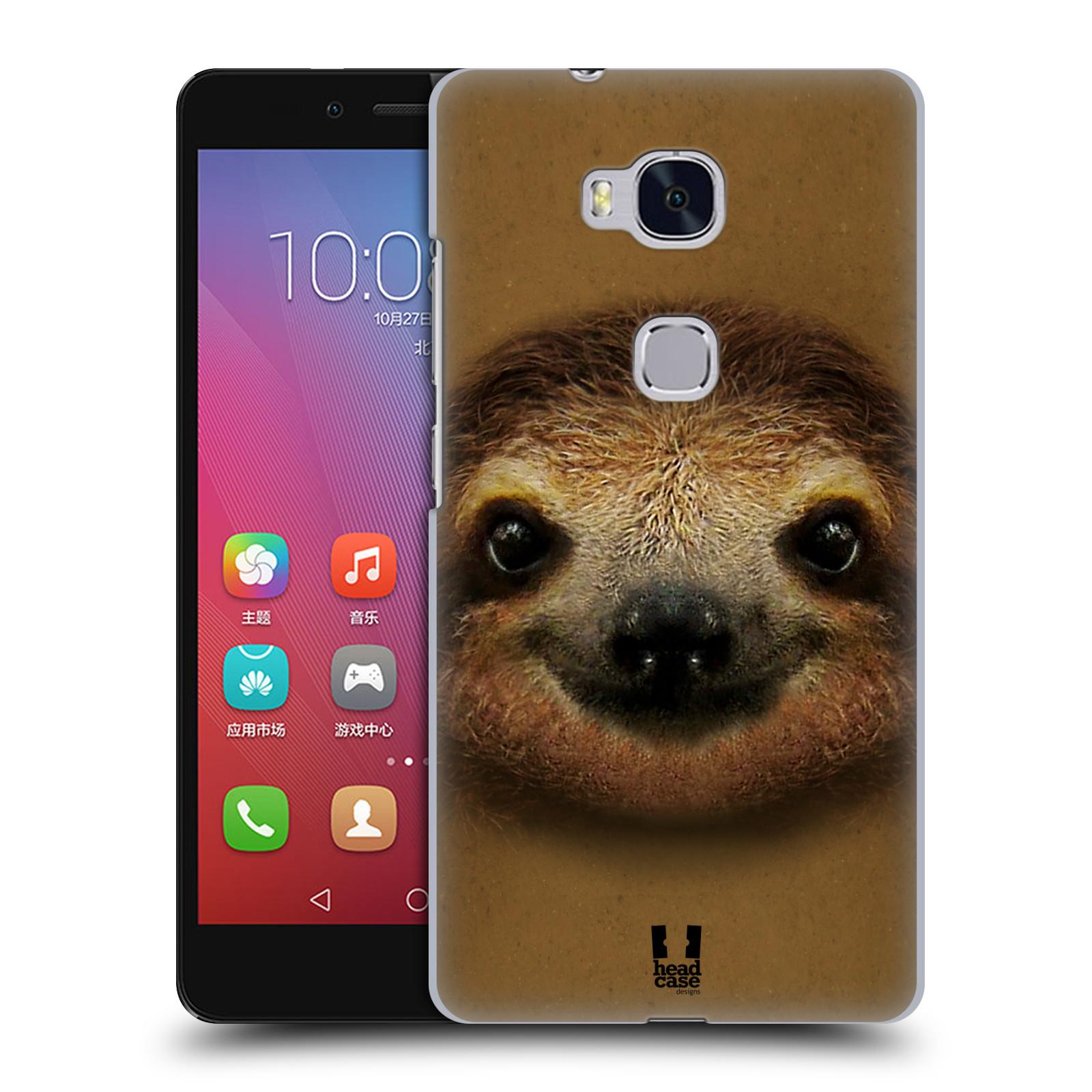 HEAD CASE pevný plastový obal na mobil HUAWEI HONOR 5X vzor Zvířecí tváře 2 lenochod