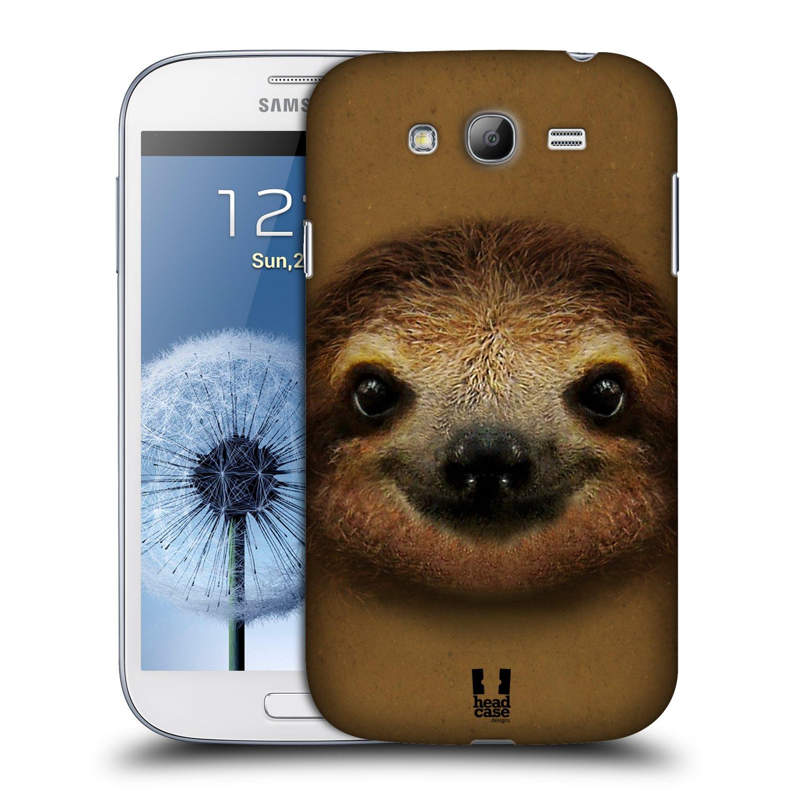 HEAD CASE plastový obal na mobil SAMSUNG GALAXY Grand i9080 vzor Zvířecí tváře 2 lenochod