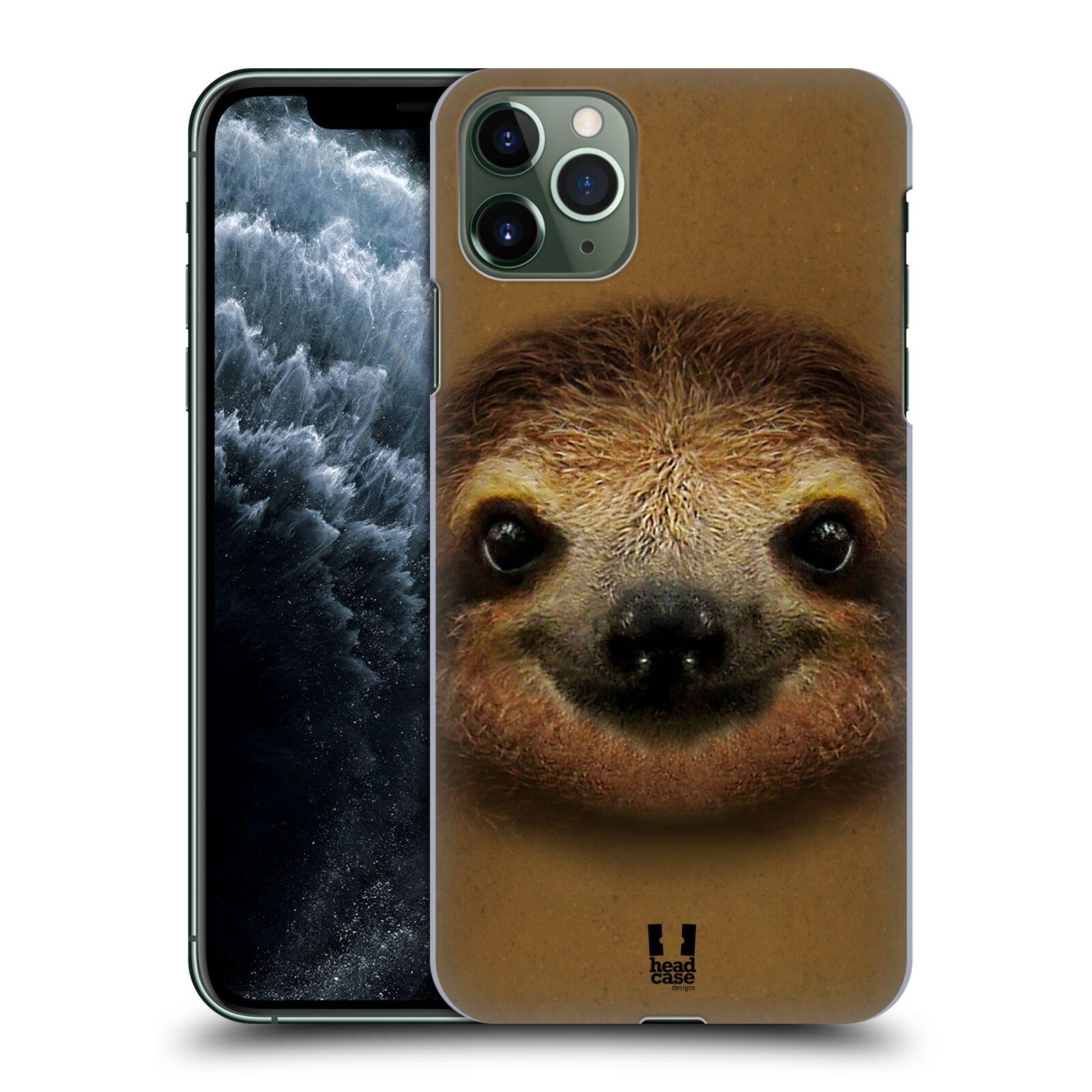 Pouzdro na mobil Apple Iphone 11 PRO MAX - HEAD CASE - vzor Zvířecí tváře 2 lenochod