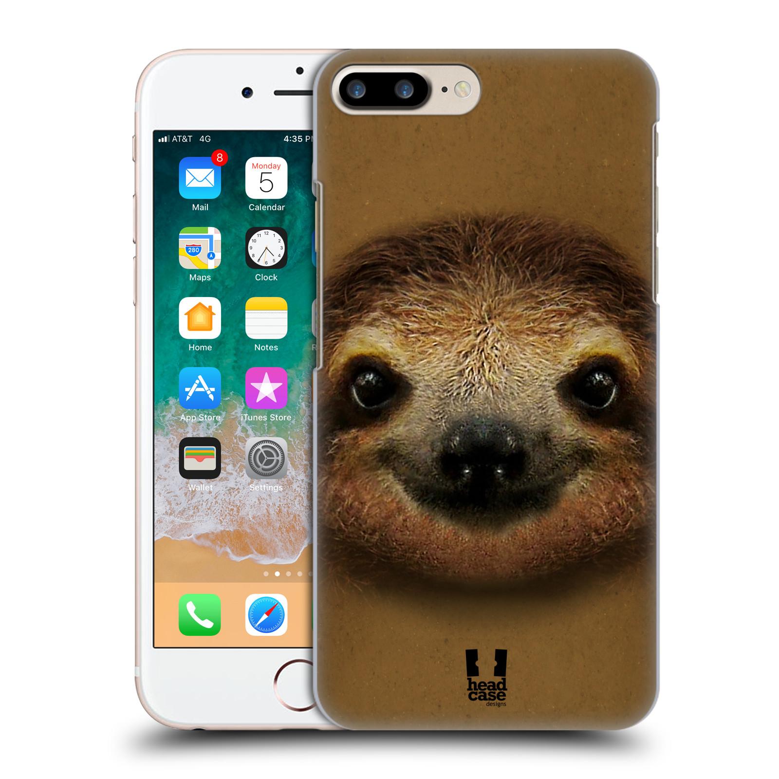HEAD CASE plastový obal na mobil Apple Iphone 7 PLUS vzor Zvířecí tváře 2 lenochod