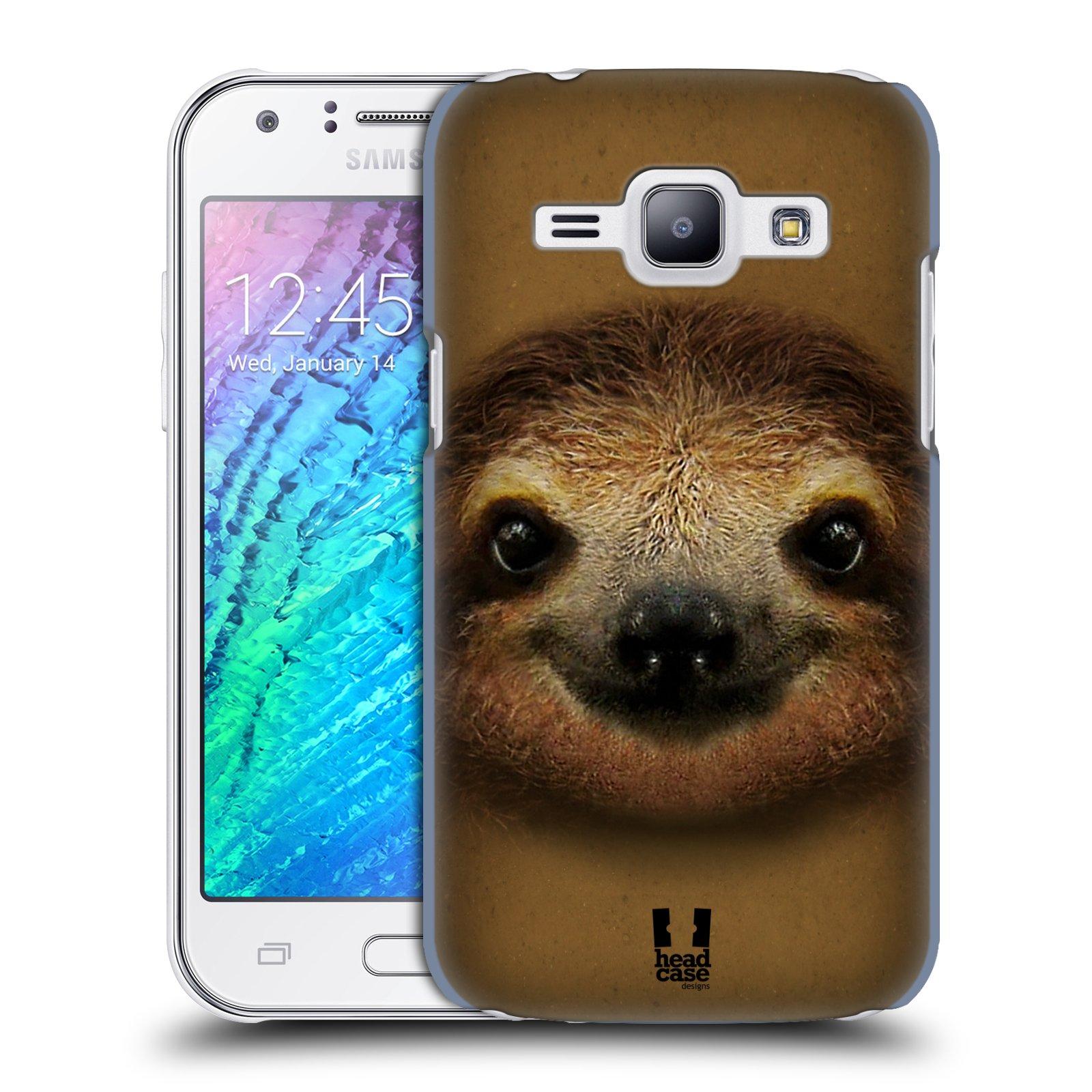 HEAD CASE plastový obal na mobil SAMSUNG Galaxy J1, J100 vzor Zvířecí tváře 2 lenochod