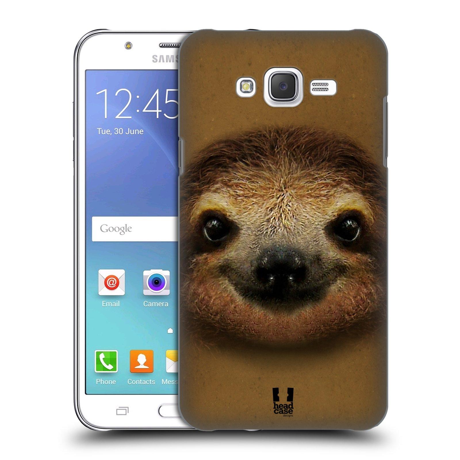HEAD CASE plastový obal na mobil SAMSUNG Galaxy J7, J700 vzor Zvířecí tváře 2 lenochod