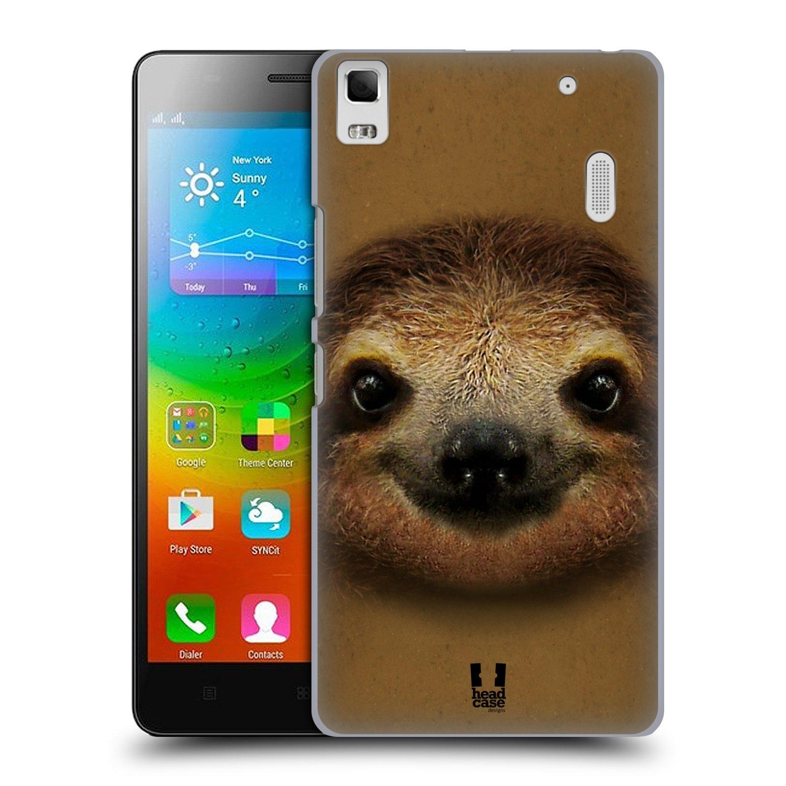 HEAD CASE pevný plastový obal na mobil LENOVO A7000 / A7000 DUAL / K3 NOTE vzor Zvířecí tváře 2 lenochod