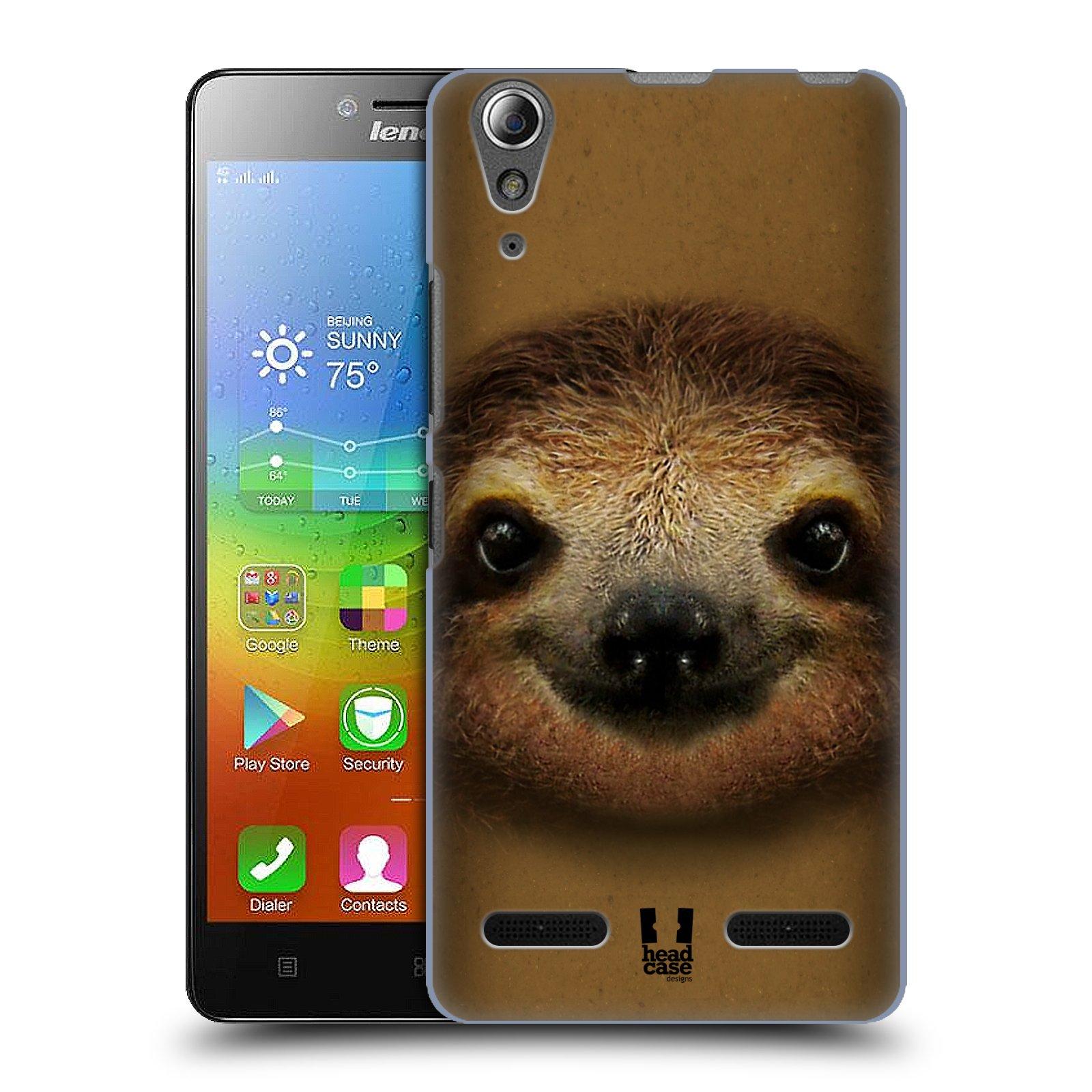 HEAD CASE pevný plastový obal na mobil LENOVO A6000 / A6000 PLUS vzor Zvířecí tváře 2 lenochod