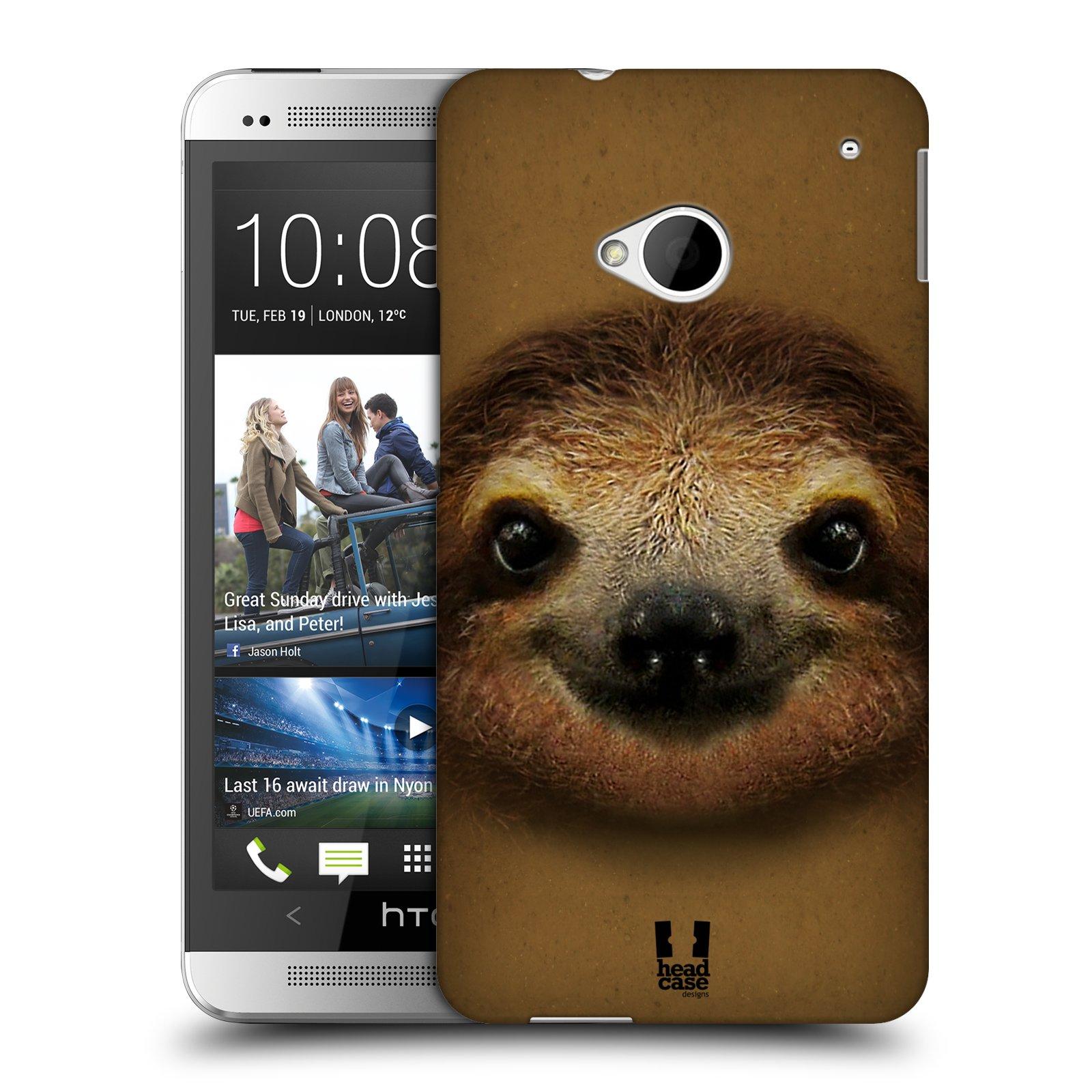 HEAD CASE plastový obal na mobil HTC One (M7) vzor Zvířecí tváře 2 lenochod