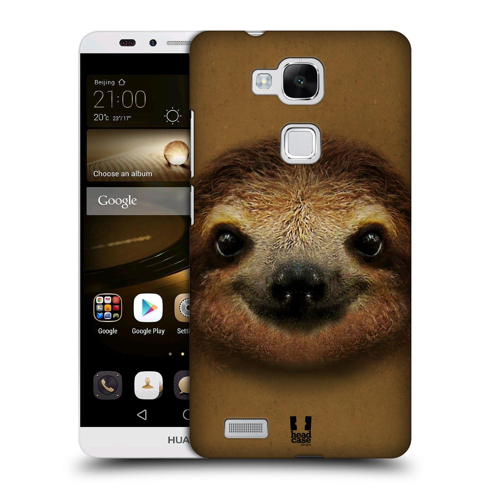HEAD CASE plastový obal na mobil Huawei Mate 7 vzor Zvířecí tváře 2 lenochod