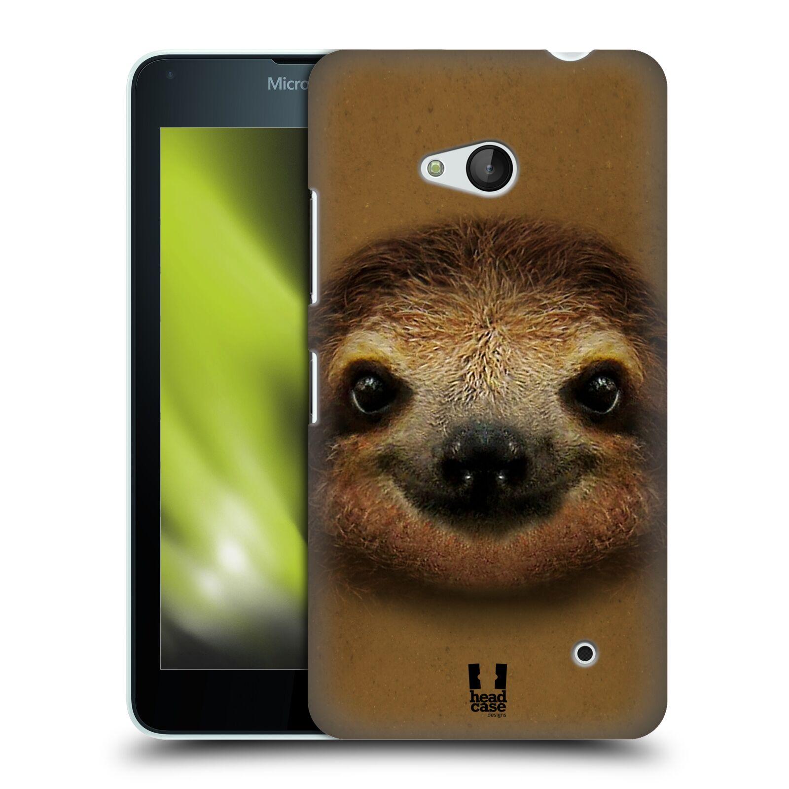 HEAD CASE plastový obal na mobil Nokia Lumia 640 vzor Zvířecí tváře 2 lenochod
