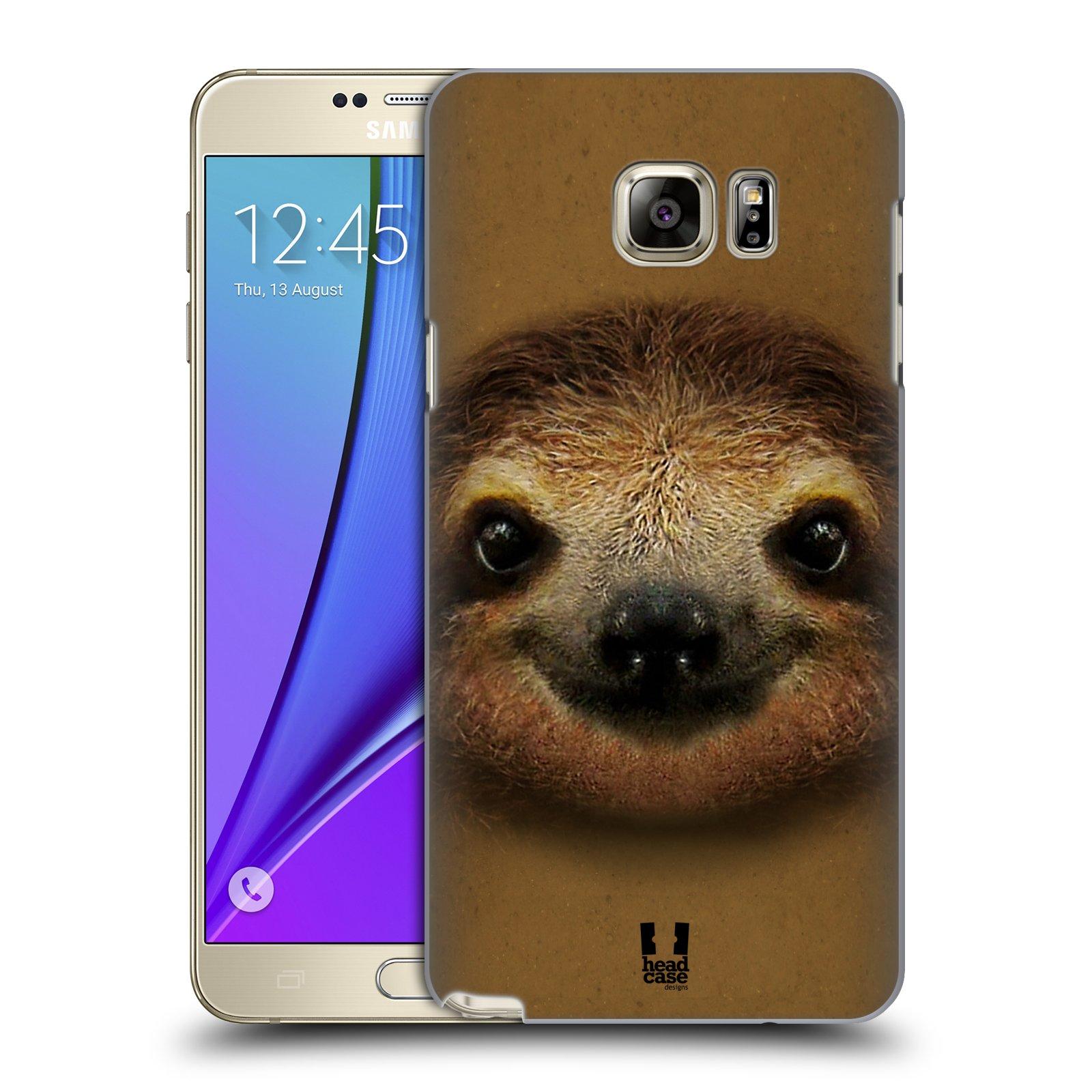 HEAD CASE plastový obal na mobil SAMSUNG Galaxy Note 5 (N920) vzor Zvířecí tváře 2 lenochod