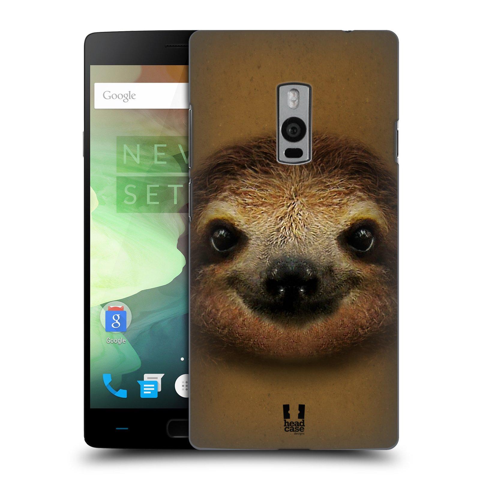 HEAD CASE pevný plastový obal na mobil OnePlus 2  ( TWO ) vzor Zvířecí tváře 2 lenochod