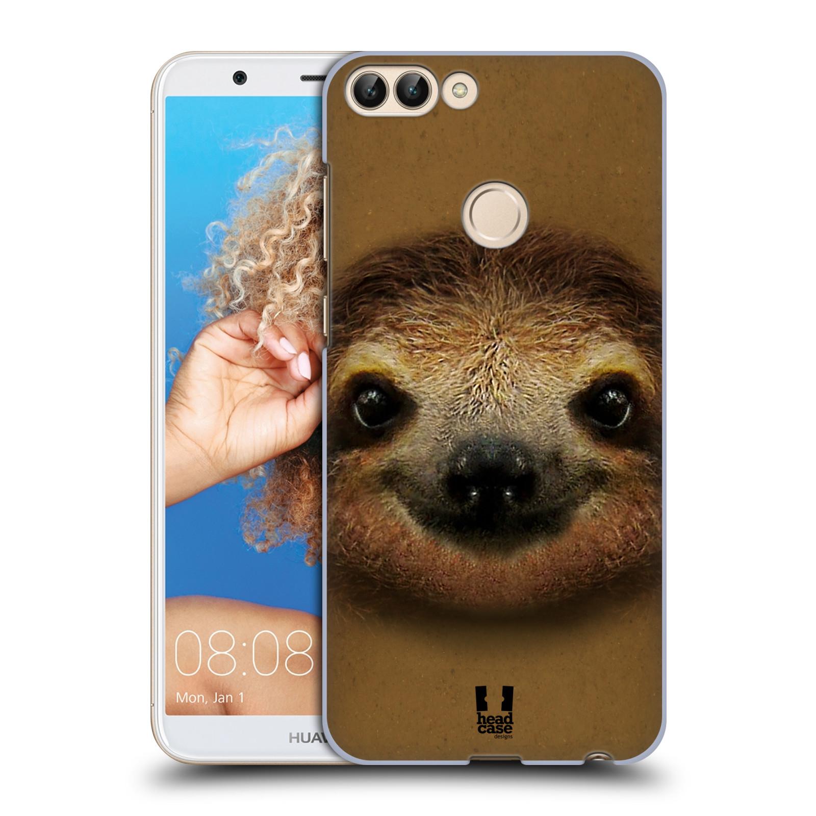 HEAD CASE plastový obal na mobil Huawei P Smart vzor Zvířecí tváře 2 lenochod