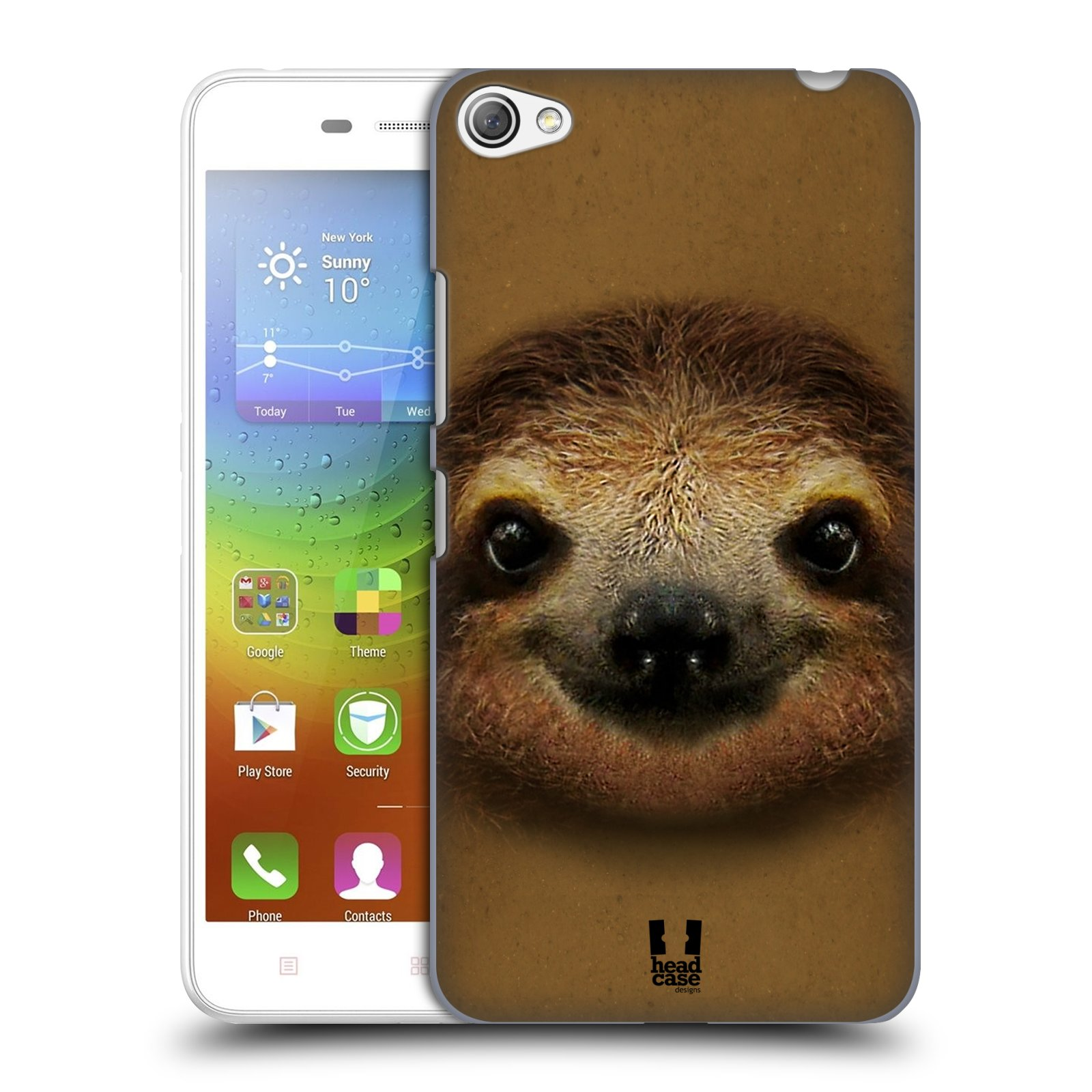 HEAD CASE pevný plastový obal na mobil LENOVO S60 / LENOVO S60 DUAL SIM vzor Zvířecí tváře 2 lenochod