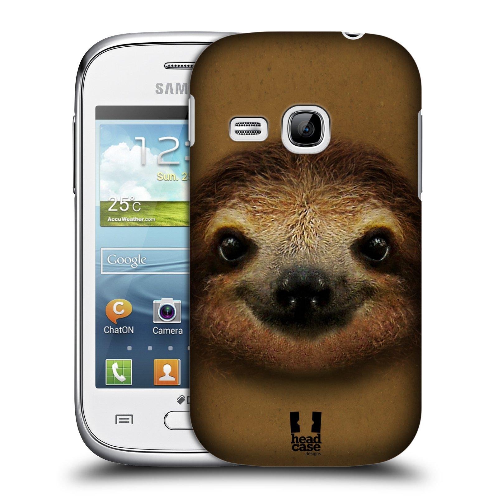 HEAD CASE plastový obal na mobil SAMSUNG Galaxy Young S6310 vzor Zvířecí tváře 2 lenochod
