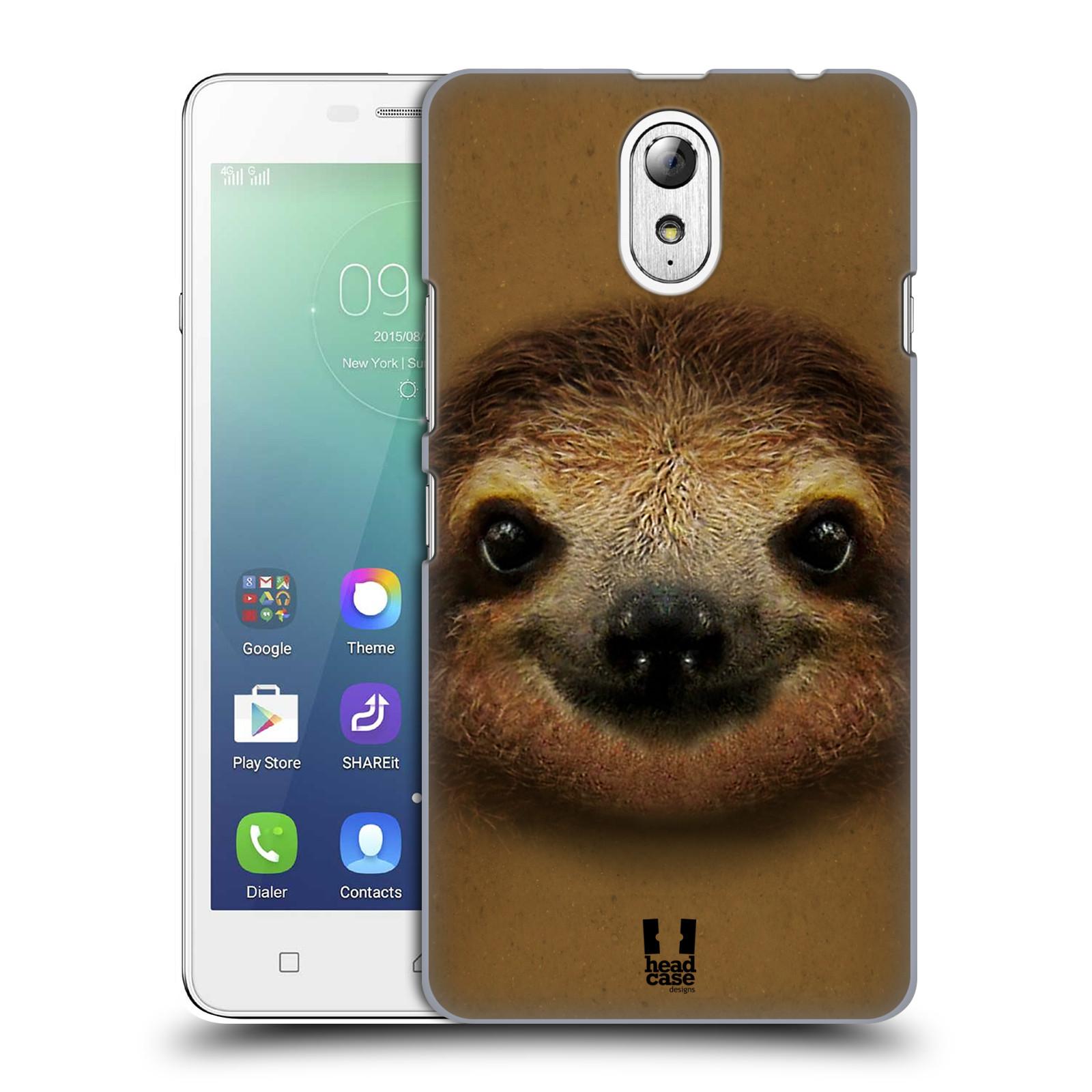 HEAD CASE pevný plastový obal na mobil LENOVO VIBE P1m / LENOVO VIBE p1m DUAL SIM vzor Zvířecí tváře 2 lenochod