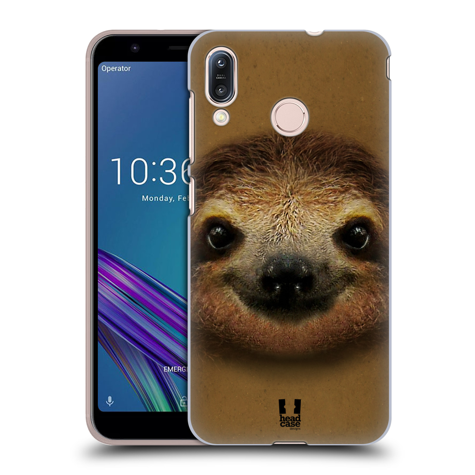 Pouzdro na mobil Asus Zenfone Max M1 (ZB555KL) - HEAD CASE - vzor Zvířecí tváře 2 lenochod