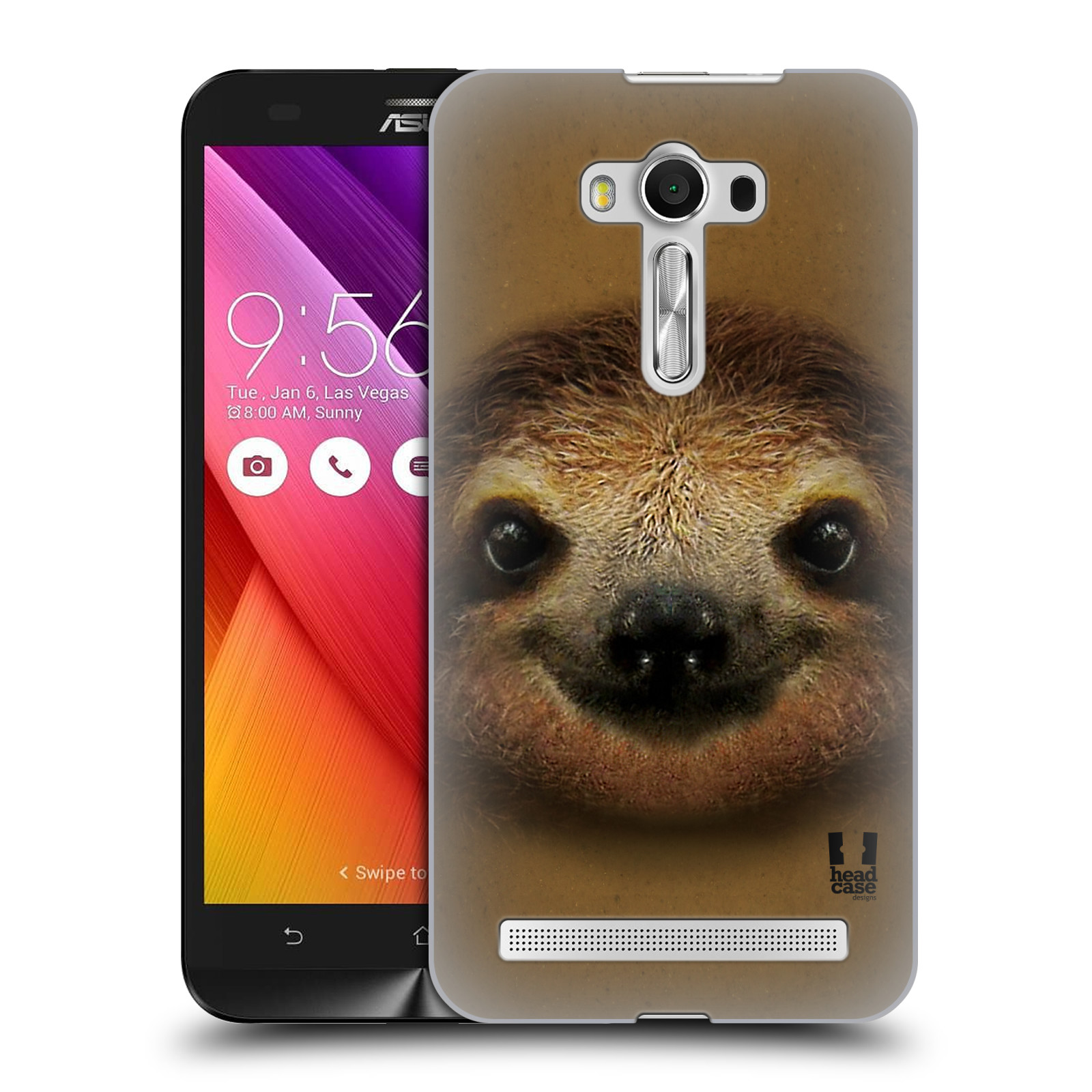 HEAD CASE plastový obal na mobil Asus Zenfone 2 LASER (5,5 displej ZE550KL) vzor Zvířecí tváře 2 lenochod