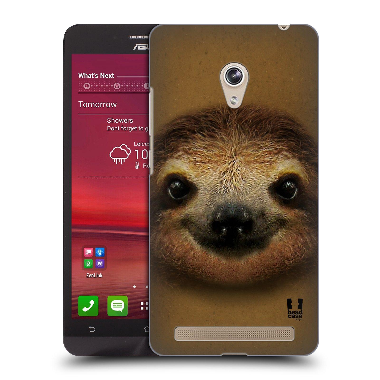 HEAD CASE plastový obal na mobil Asus Zenfone 6 vzor Zvířecí tváře 2 lenochod