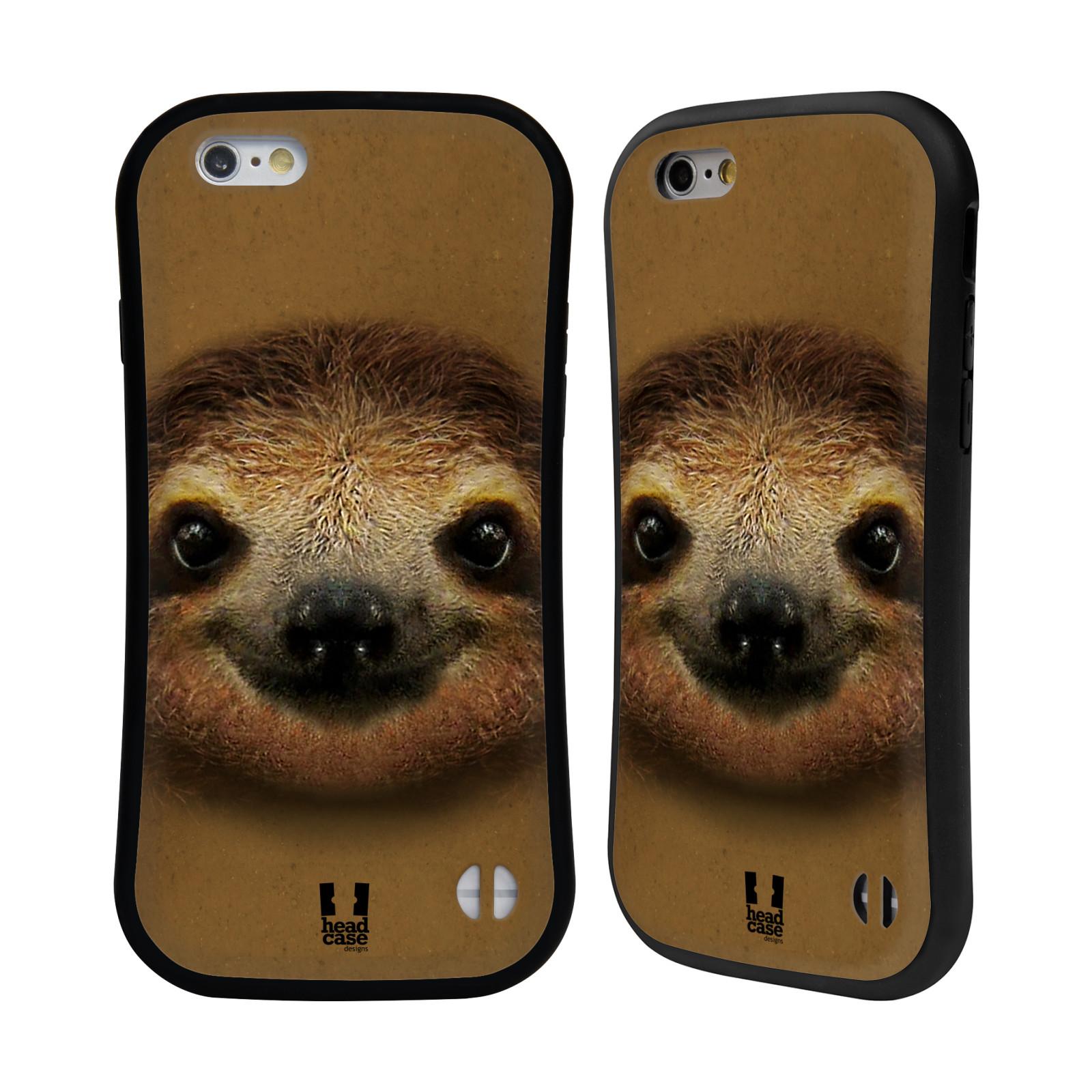 HEAD CASE silikon/plast odolný obal na mobil Apple Iphone 6/6S vzor Zvířecí tváře 2 lenochod