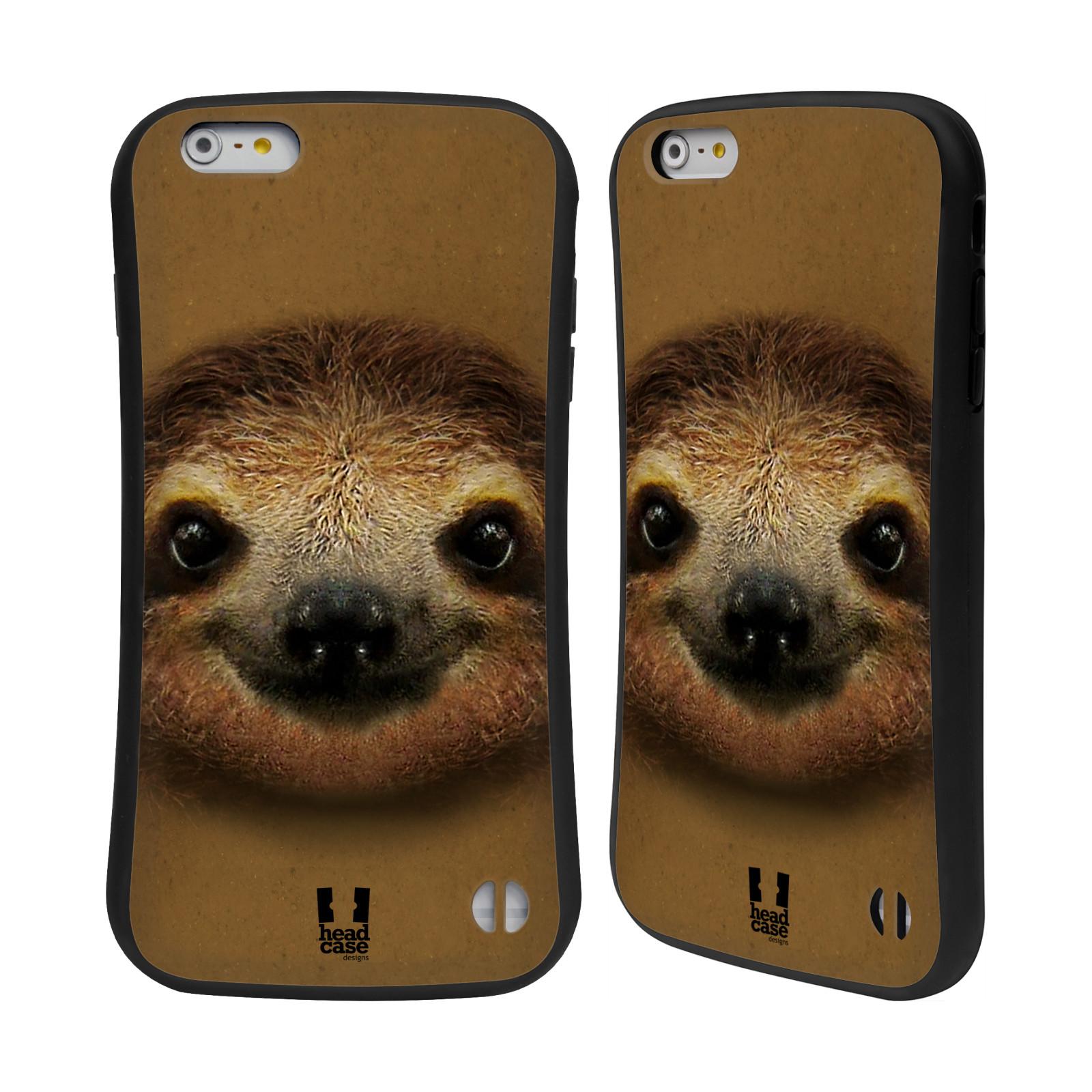 HEAD CASE silikon/plast odolný obal na mobil Apple Iphone 6 PLUS / 6S PLUS vzor Zvířecí tváře 2 lenochod