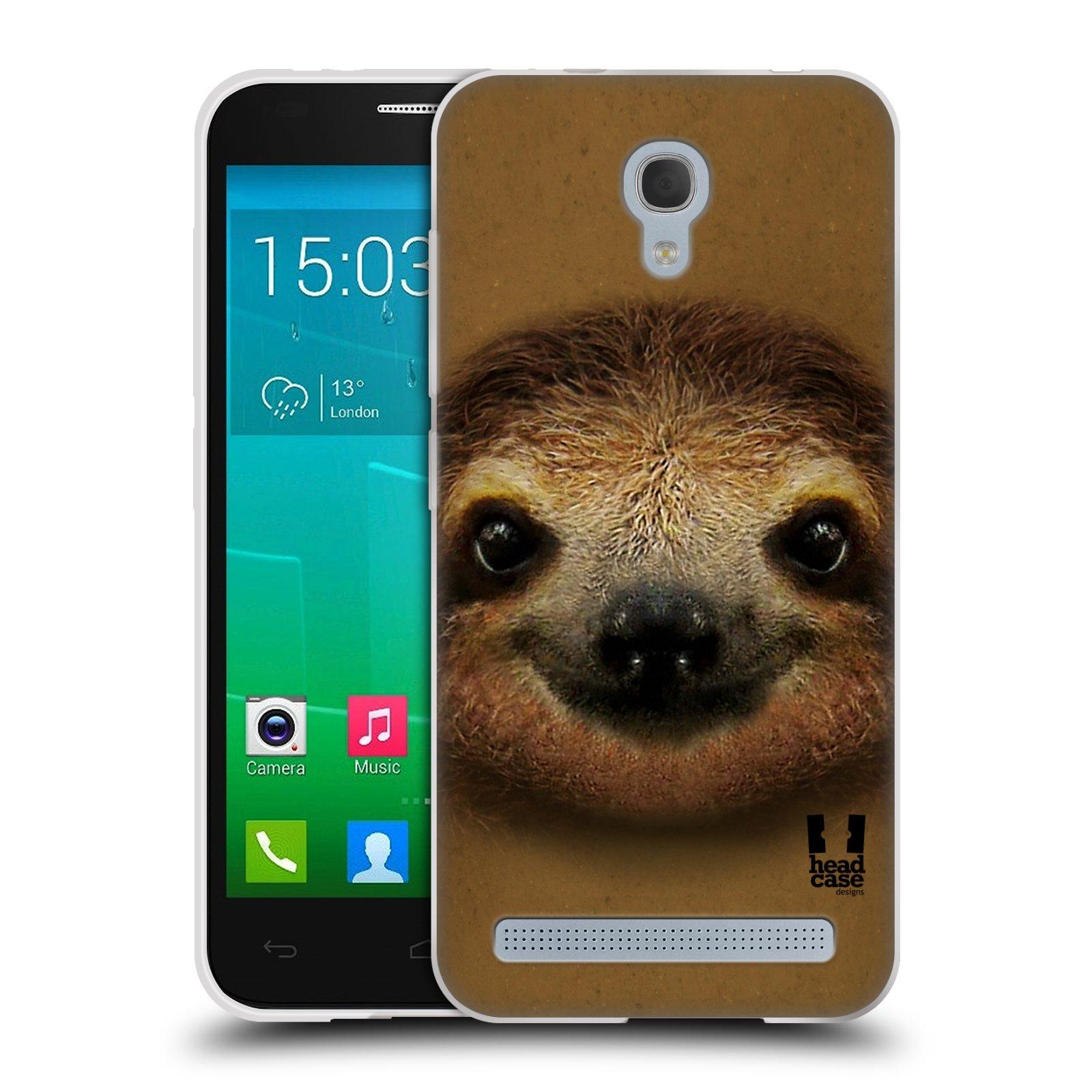 HEAD CASE silikonový obal na mobil Alcatel Idol 2 MINI S 6036Y vzor Zvířecí tváře 2 lenochod