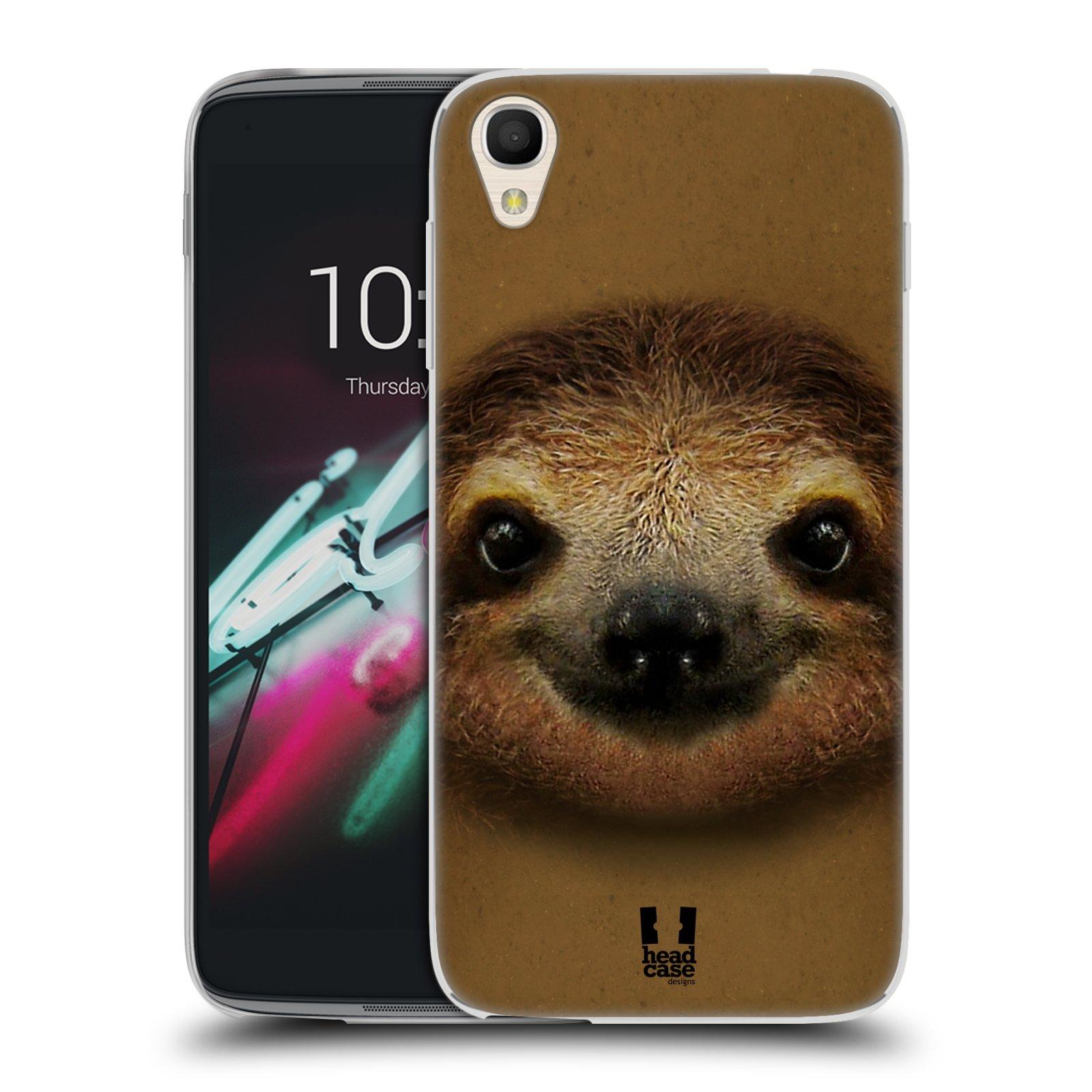 HEAD CASE silikonový obal na mobil Alcatel Idol 3 OT-6039Y (4.7) vzor Zvířecí tváře 2 lenochod