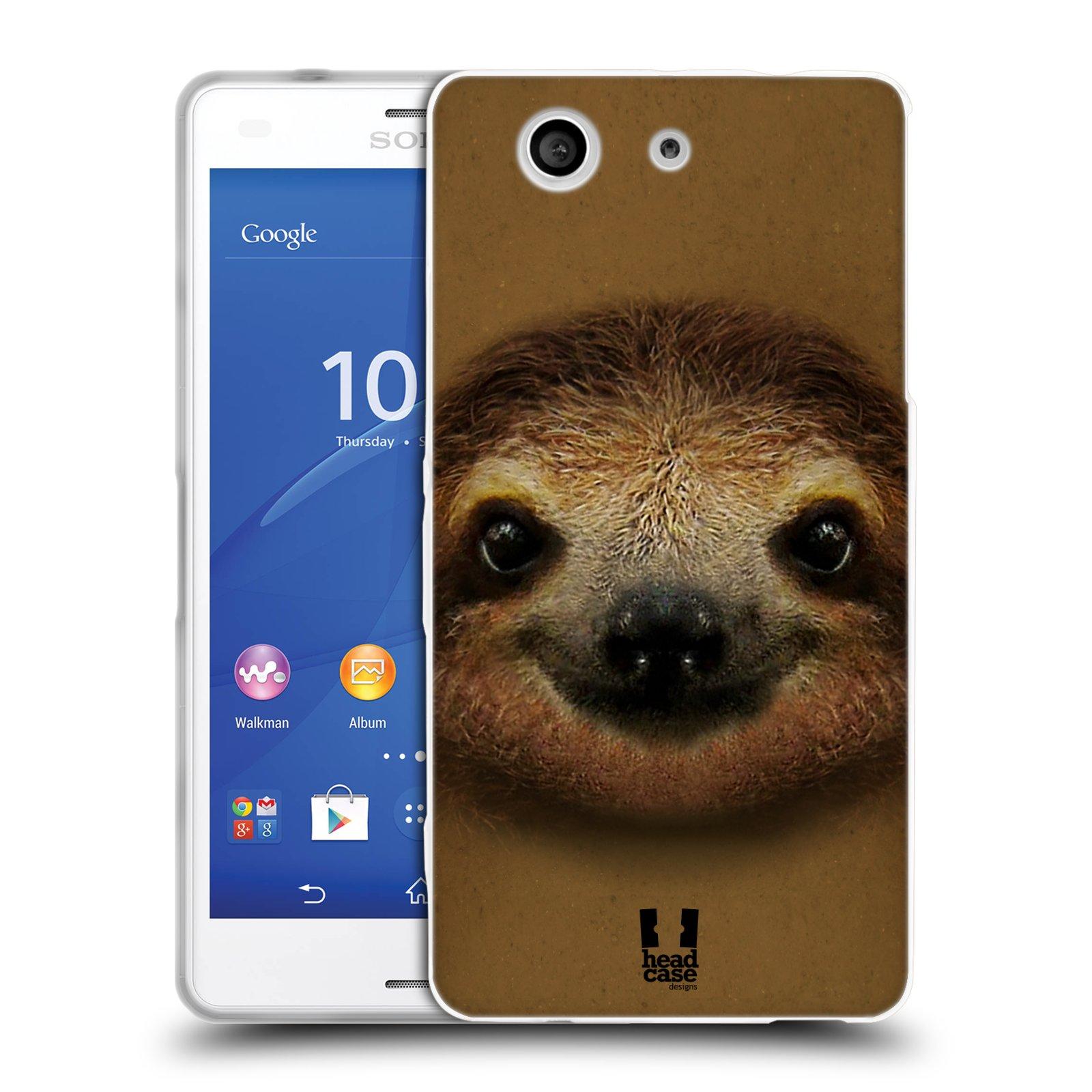 HEAD CASE silikonový obal na mobil Sony Xperia Z3 COMPACT (D5803) vzor Zvířecí tváře 2 lenochod