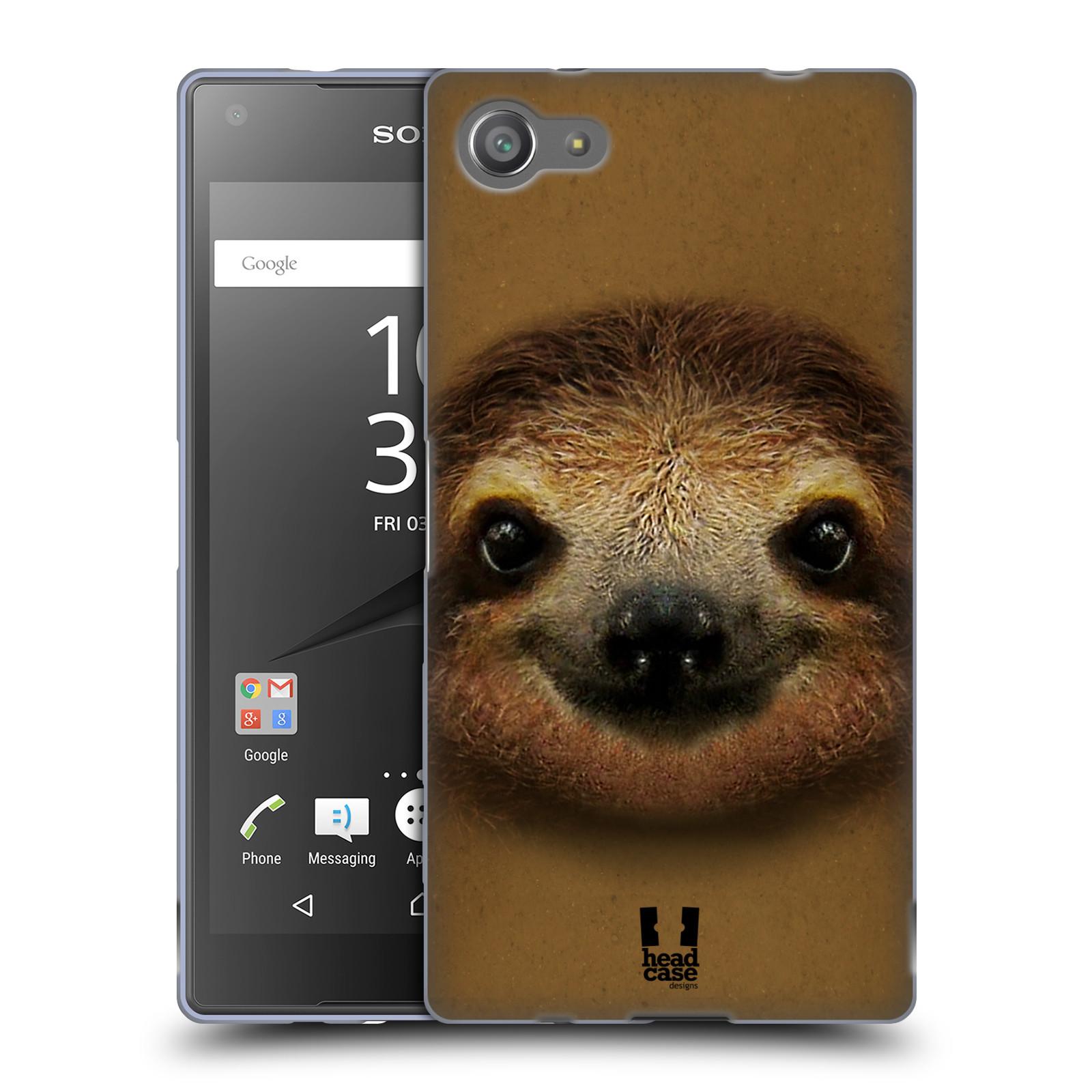 HEAD CASE silikonový obal na mobil Sony Xperia Z5 COMPACT vzor Zvířecí tváře 2 lenochod