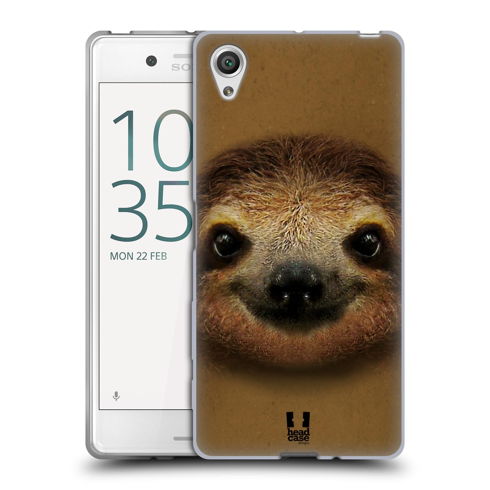 HEAD CASE silikonový obal na mobil Sony Xperia X / X DUAL vzor Zvířecí tváře 2 lenochod