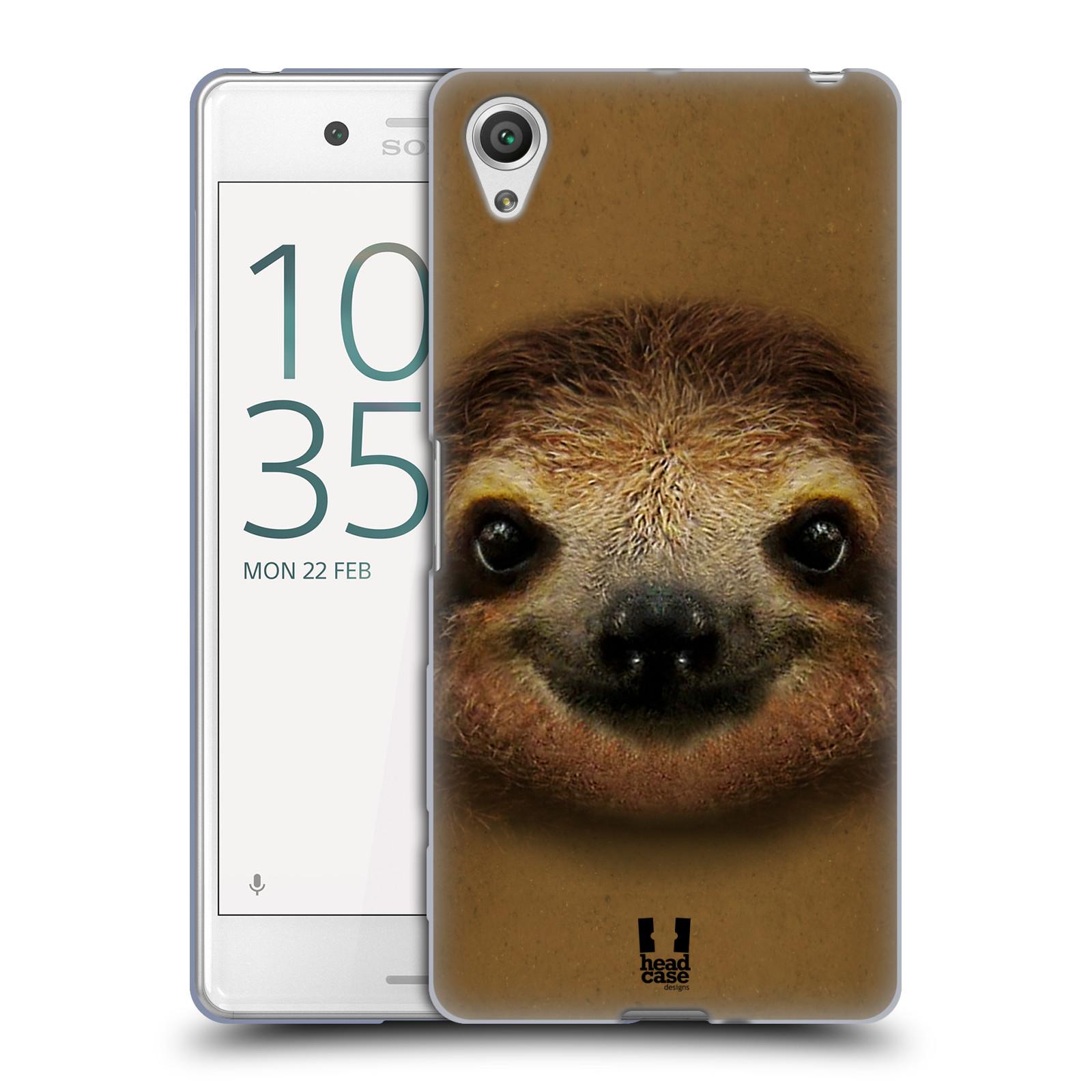 HEAD CASE silikonový obal na mobil Sony Xperia X PERFORMANCE (F8131, F8132) vzor Zvířecí tváře 2 lenochod