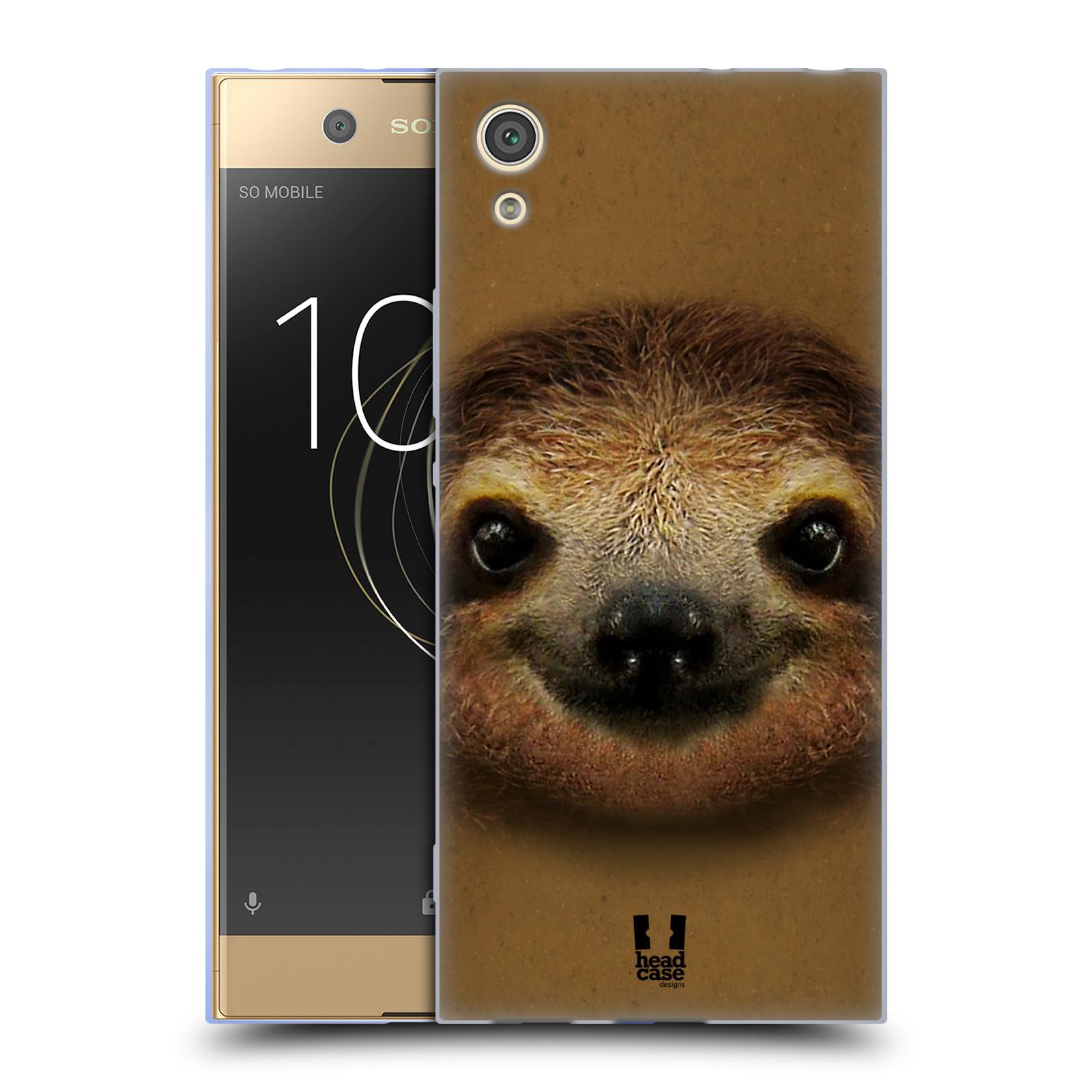 HEAD CASE silikonový obal na mobil Sony Xperia XA1 / XA1 DUAL SIM vzor Zvířecí tváře 2 lenochod
