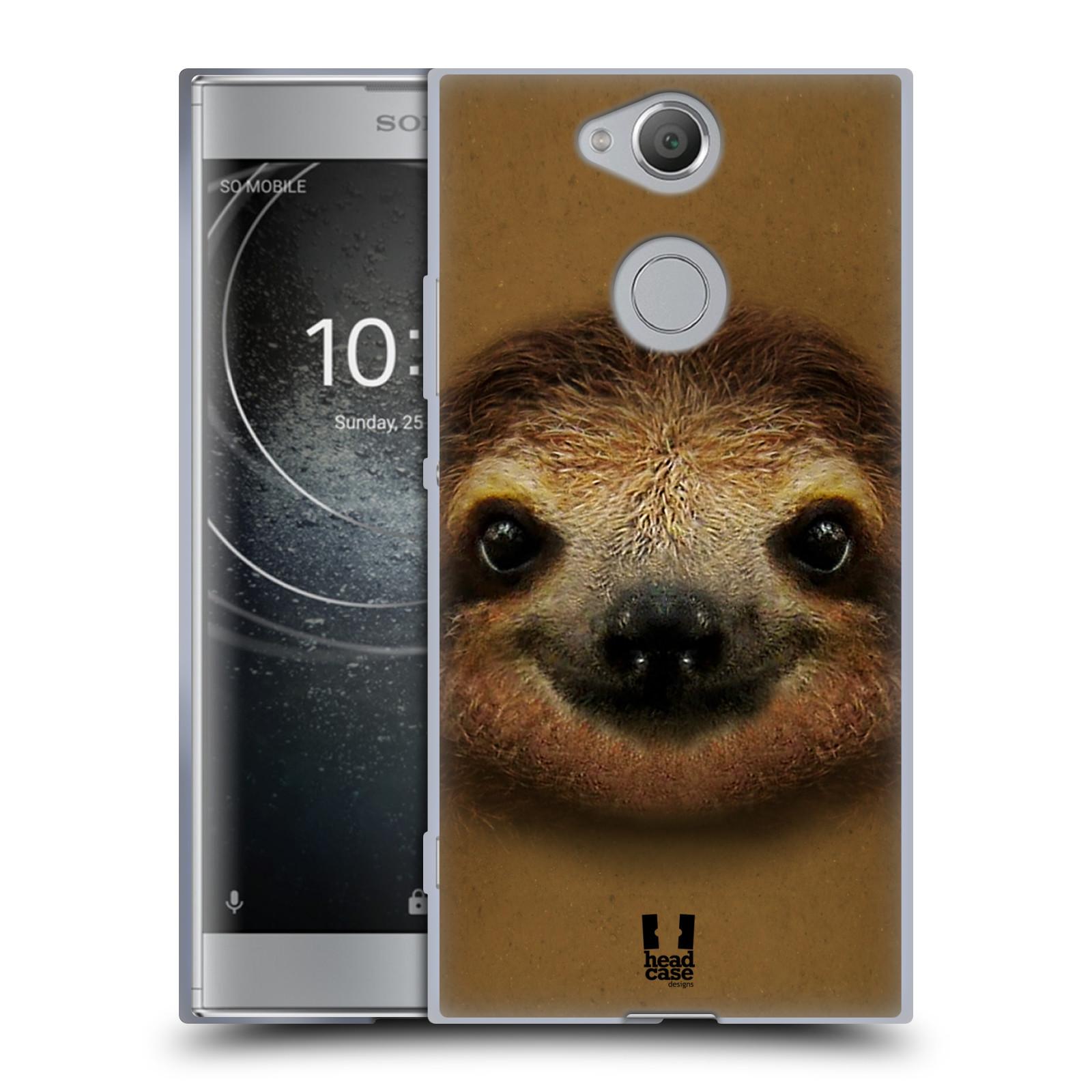 Pouzdro na mobil Sony Xperia XA2 (DUAL SIM, SINGLE SIM) vzor Zvířecí tváře 2 lenochod